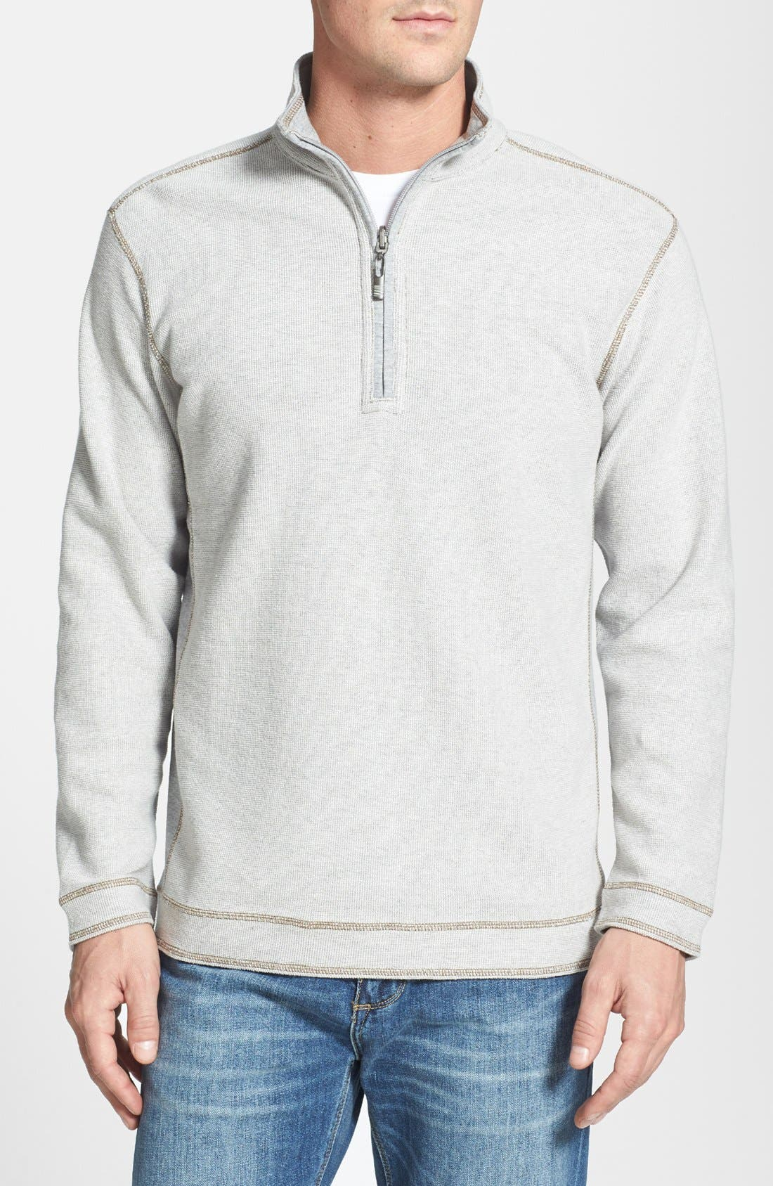 Main Image - Tommy Bahama Denim 'Grand Isles' Reversible Half Zip Sweatshirt