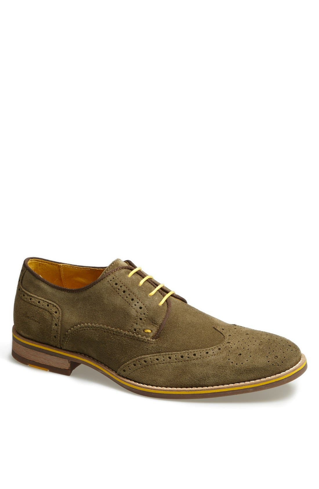 Alternate Image 1 Selected - Kenneth Cole New York 'Social Ladder' Suede Wingtip