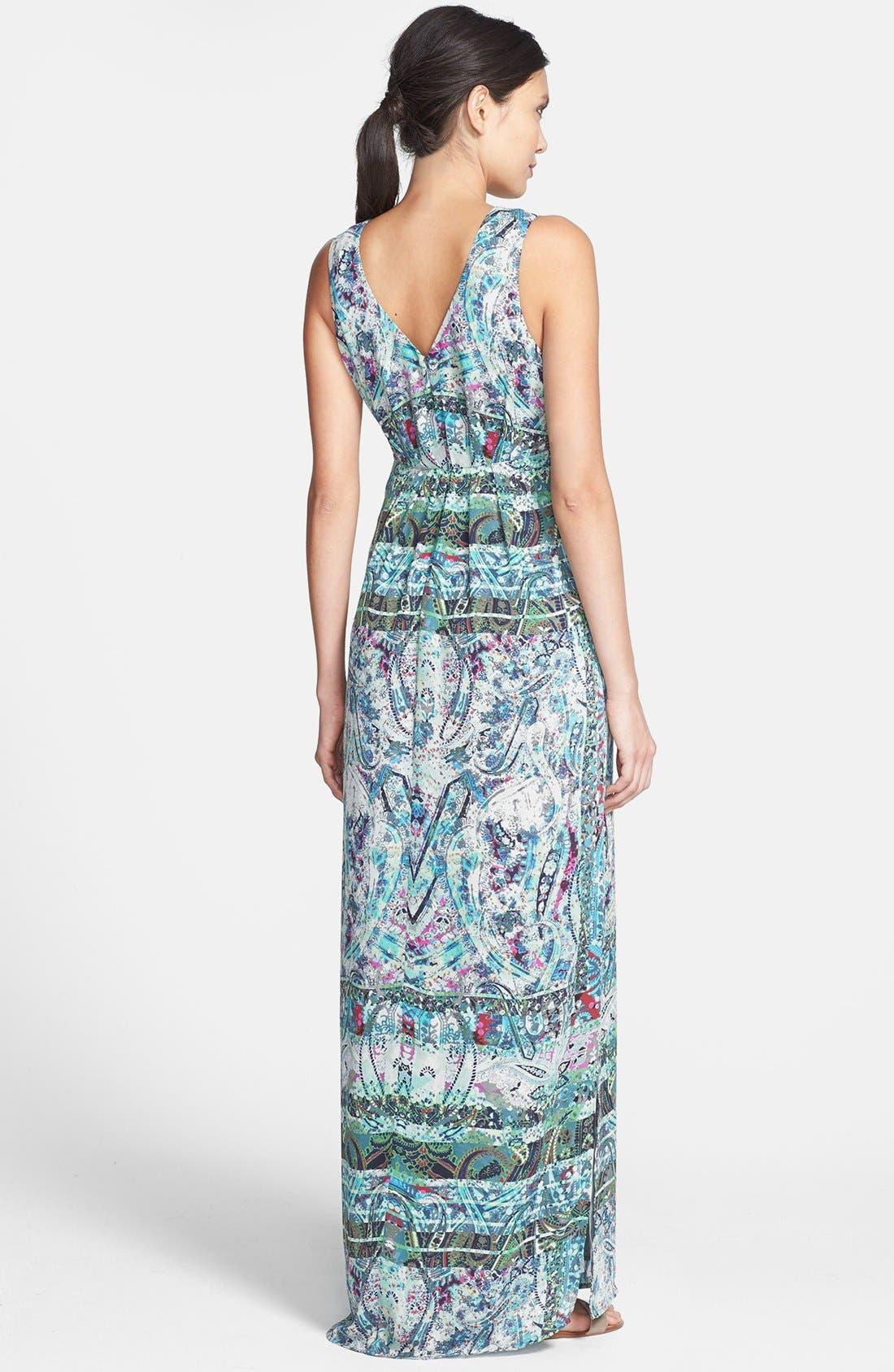 Alternate Image 2  - Presley Skye Print Woven Maxi Dress
