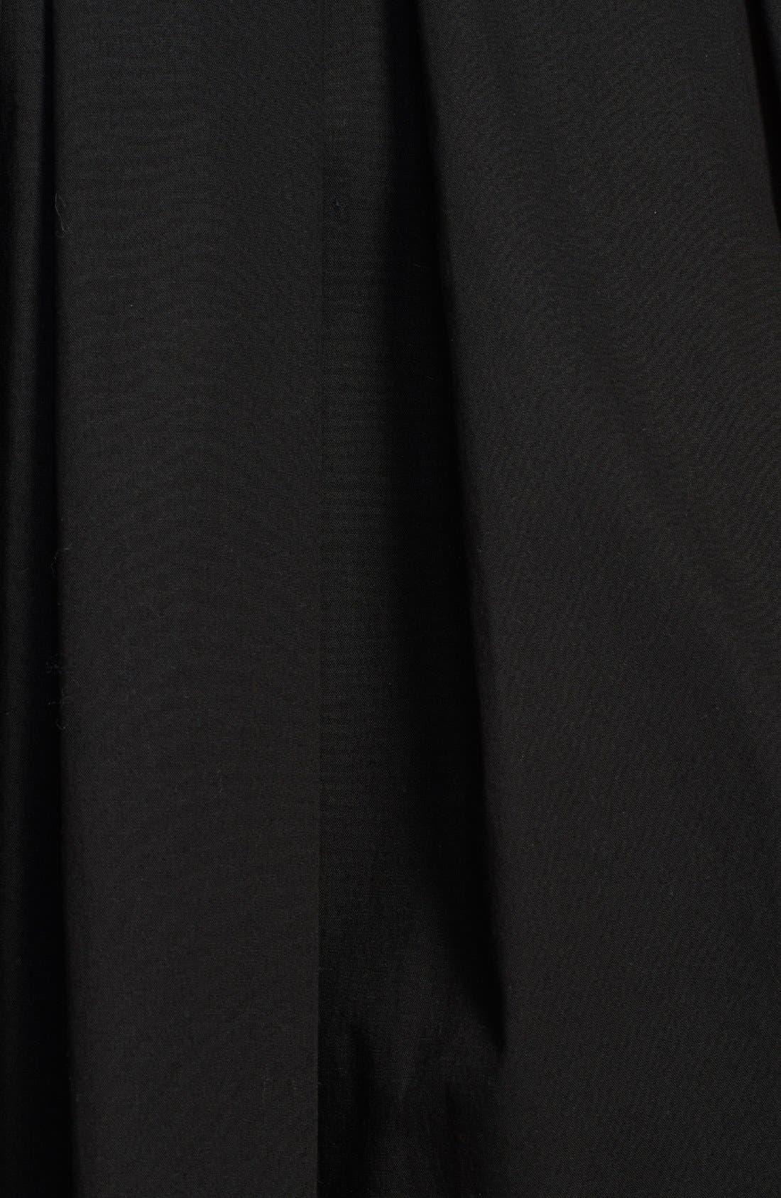 Alternate Image 3  - RED Valentino Pleated Stretch Poplin A-Line Skirt