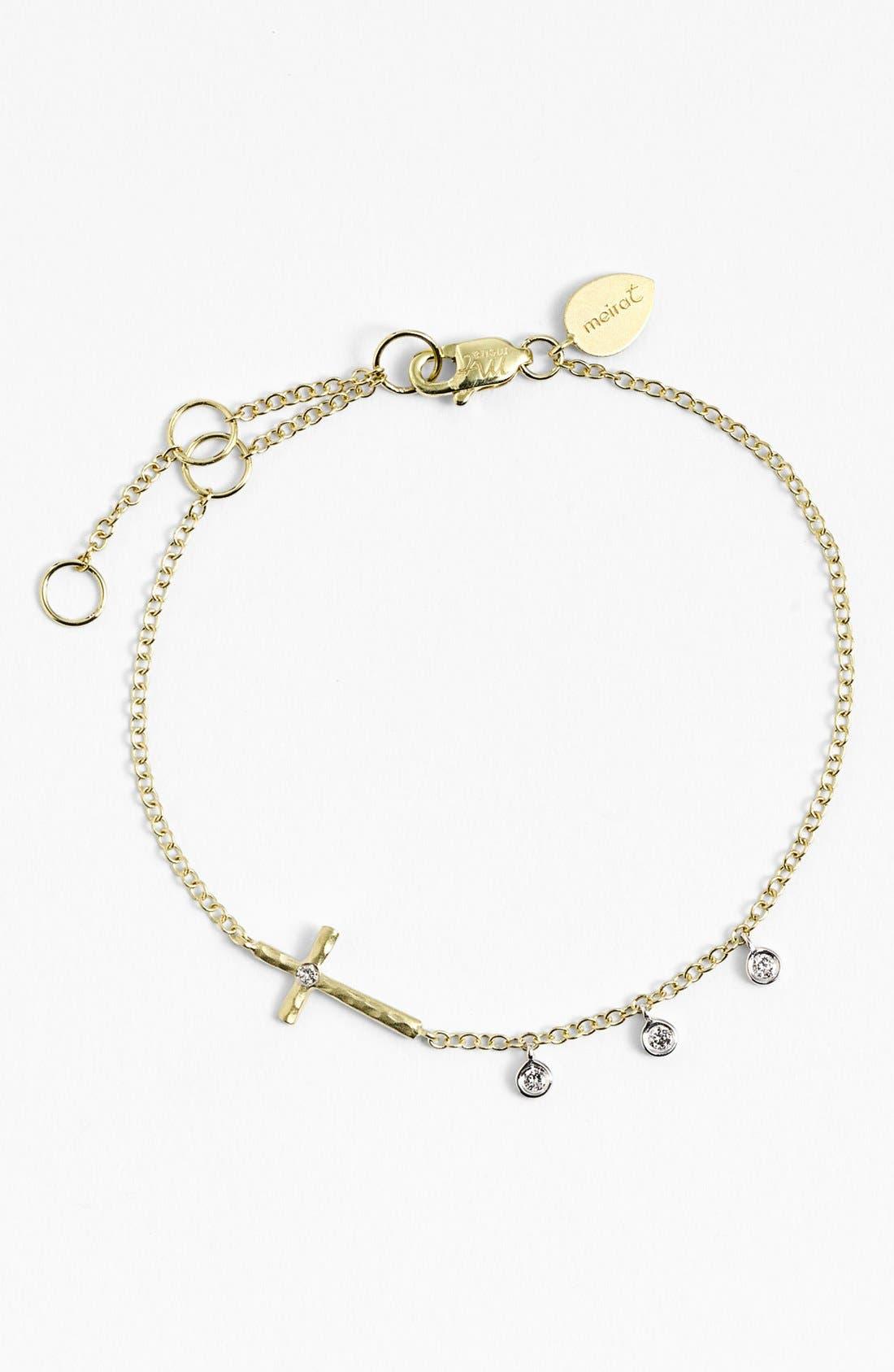 Alternate Image 1 Selected - MeiraT 'Charmed' Diamond Charm Bracelet