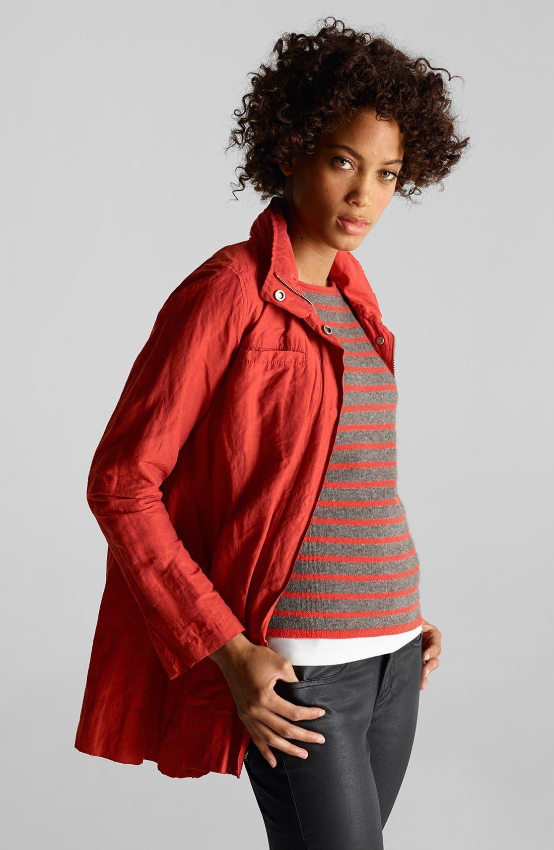 Alternate Image 3  - Eileen Fisher Roll Sleeve Crinkled Jacket (Regular & Petite)