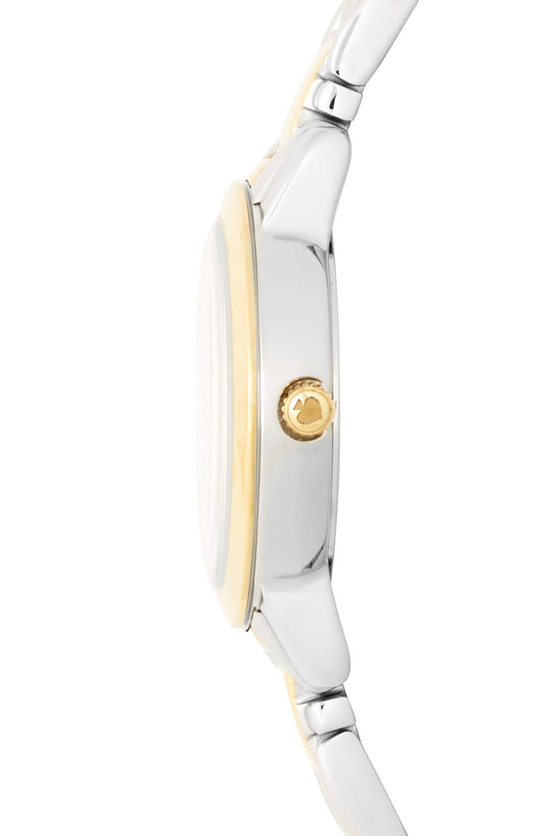 Alternate Image 3  - kate spade new york 'gramercy mini' crystal index watch, 24mm