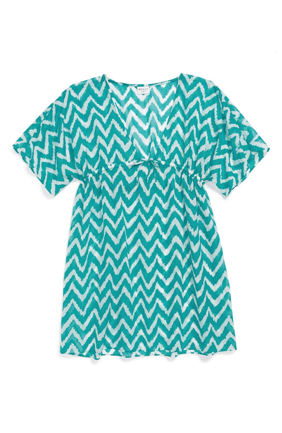 Alternate Image 1 Selected - Milly Minis Print Cover-Up (Big Girls)