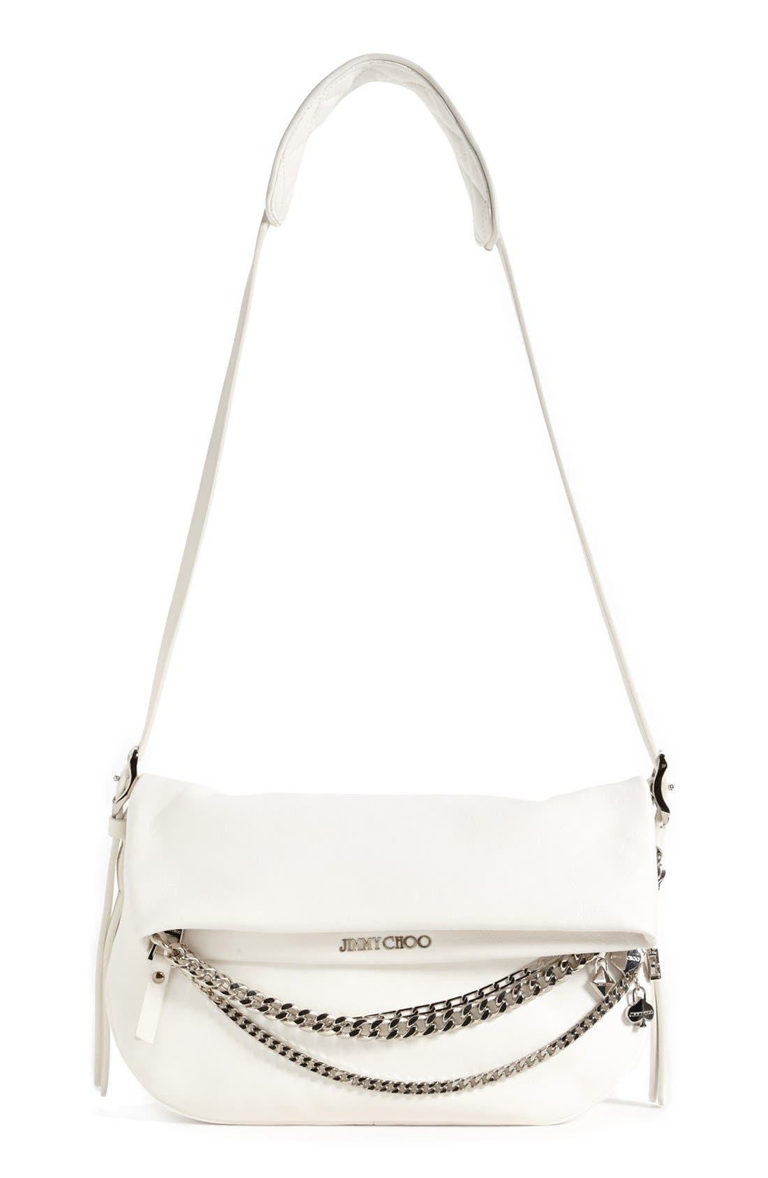 Alternate Image 1 Selected - Jimmy Choo 'Biker - Small' Leather Crossbody Bag