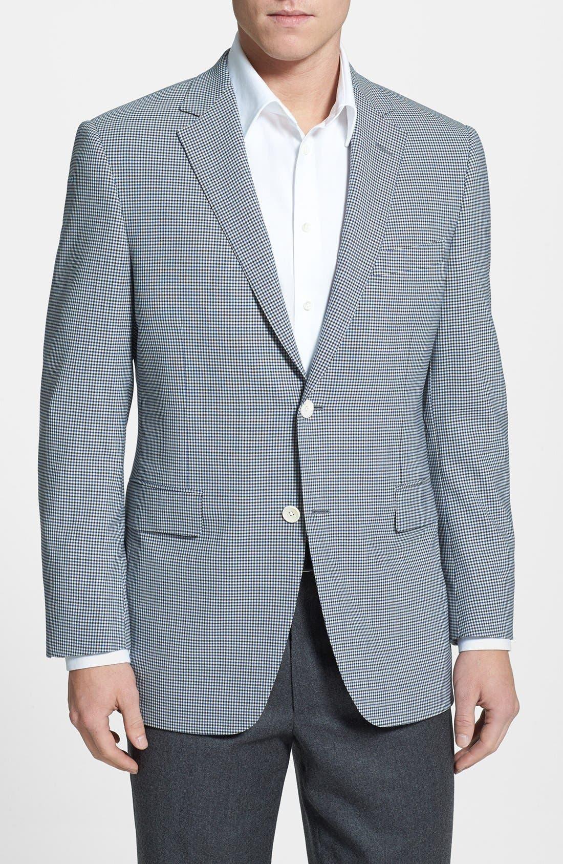 Alternate Image 1 Selected - Samuelsohn Classic Fit Check Sportcoat