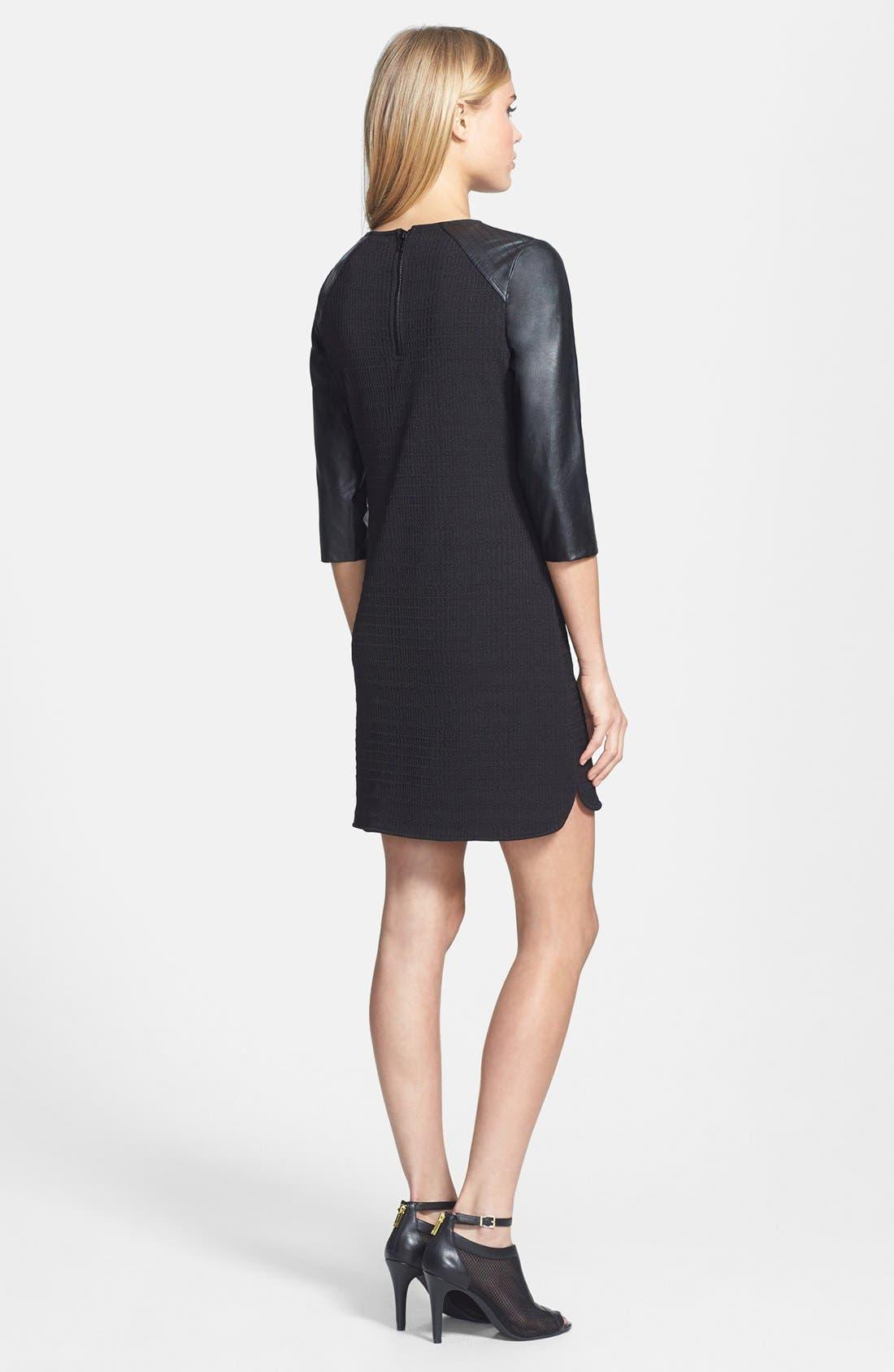 Alternate Image 2  - Sanctuary Faux Leather Sleeve Shift Dress
