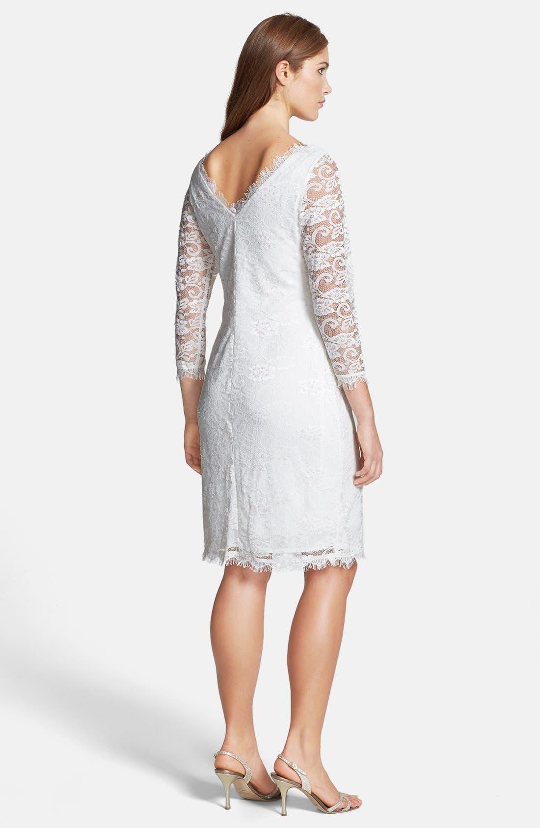 Alternate Image 2  - Marina Embellished Lace Sheath Dress