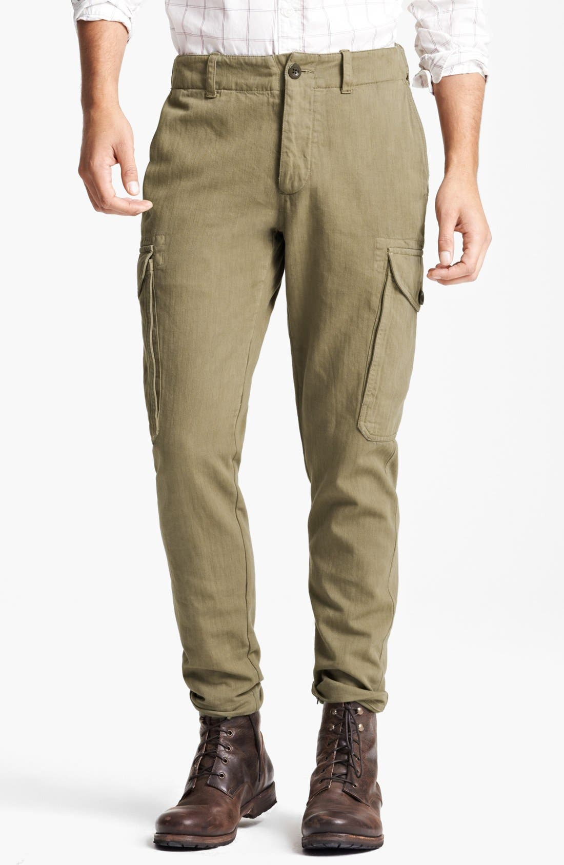 Alternate Image 1 Selected - Todd Snyder 'Infantry' Herringbone Cargo Pants
