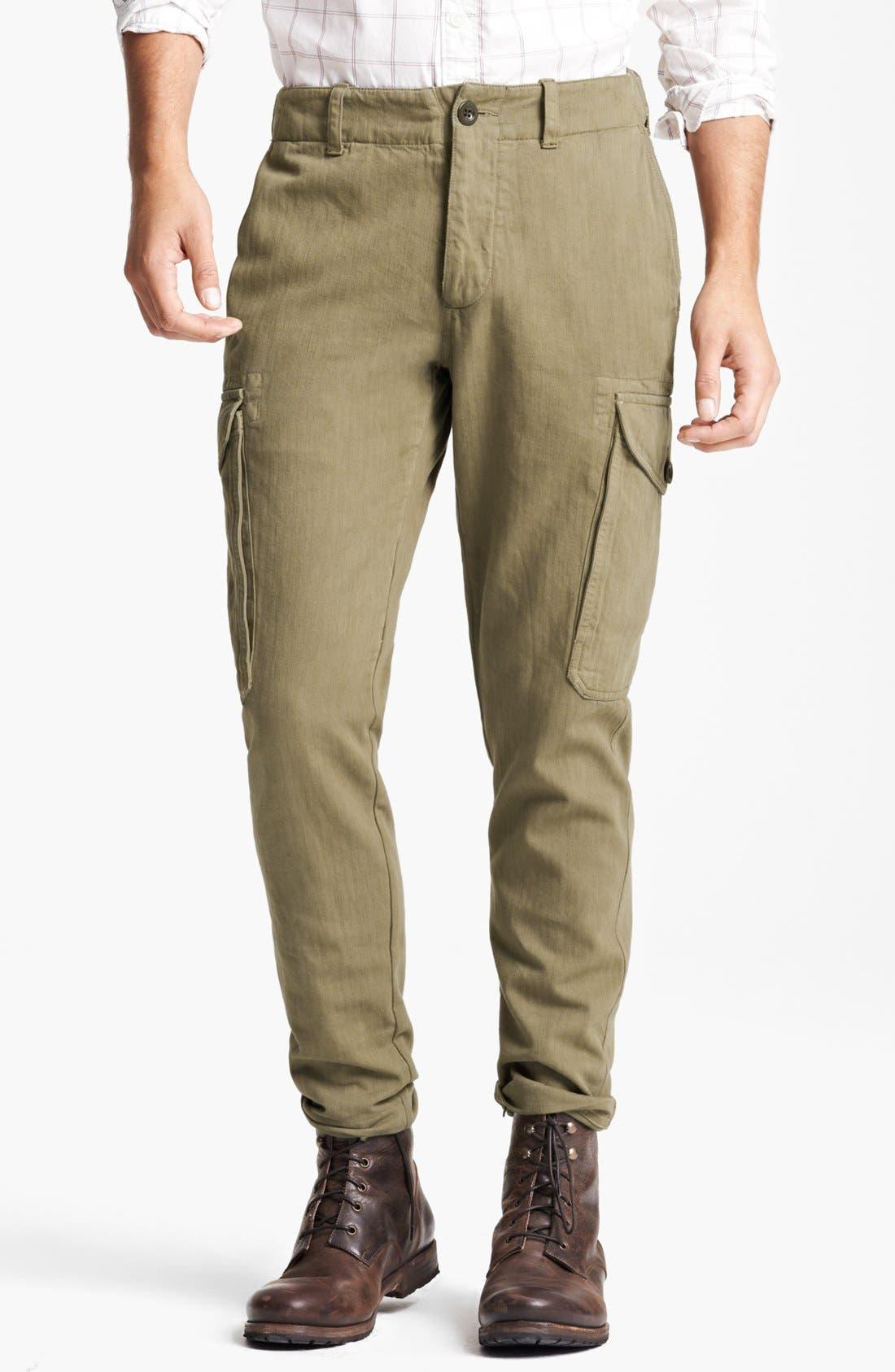 Main Image - Todd Snyder 'Infantry' Herringbone Cargo Pants