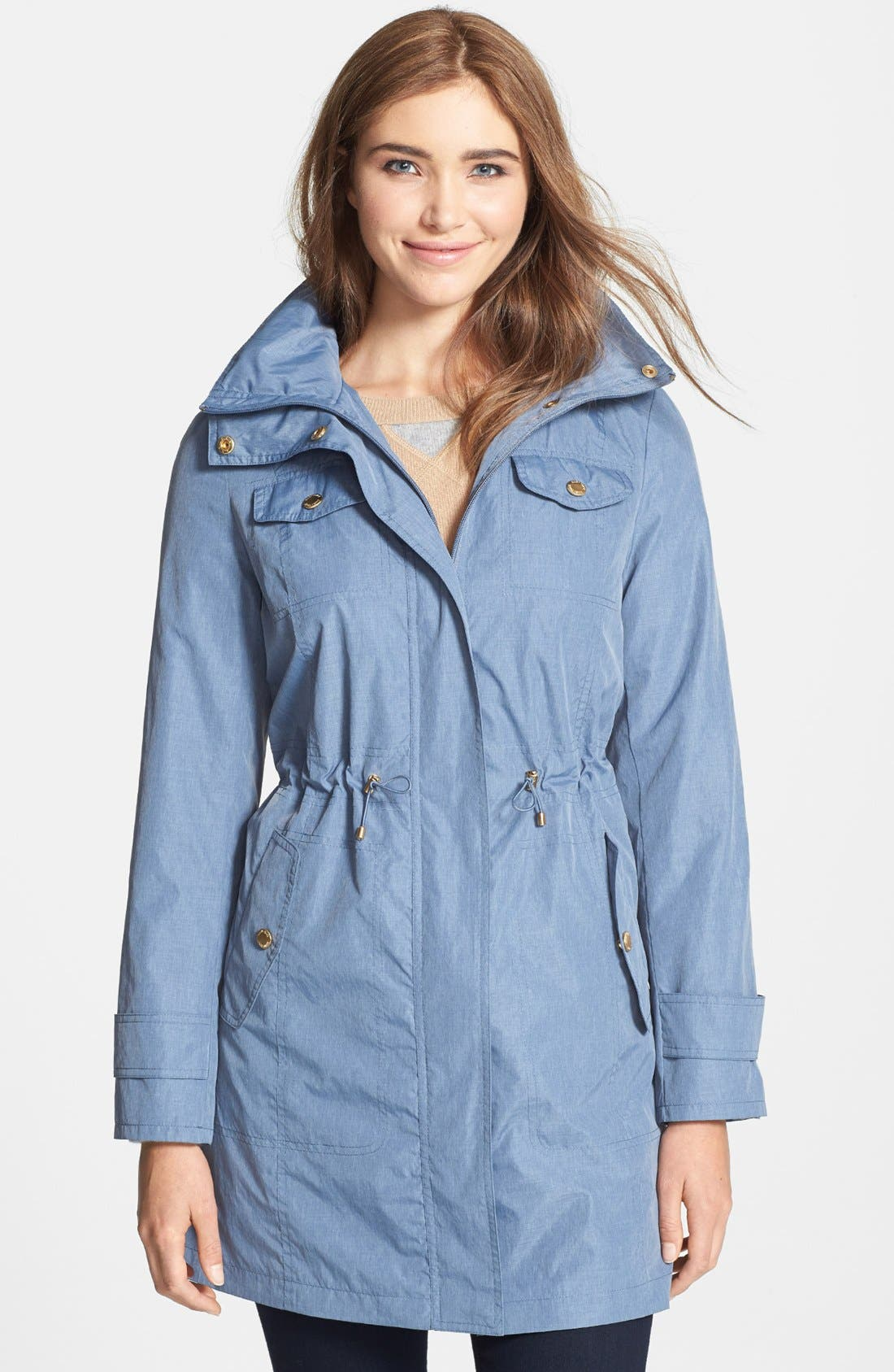 Main Image - Ellen Tracy Fly Front Anorak (Online Only)