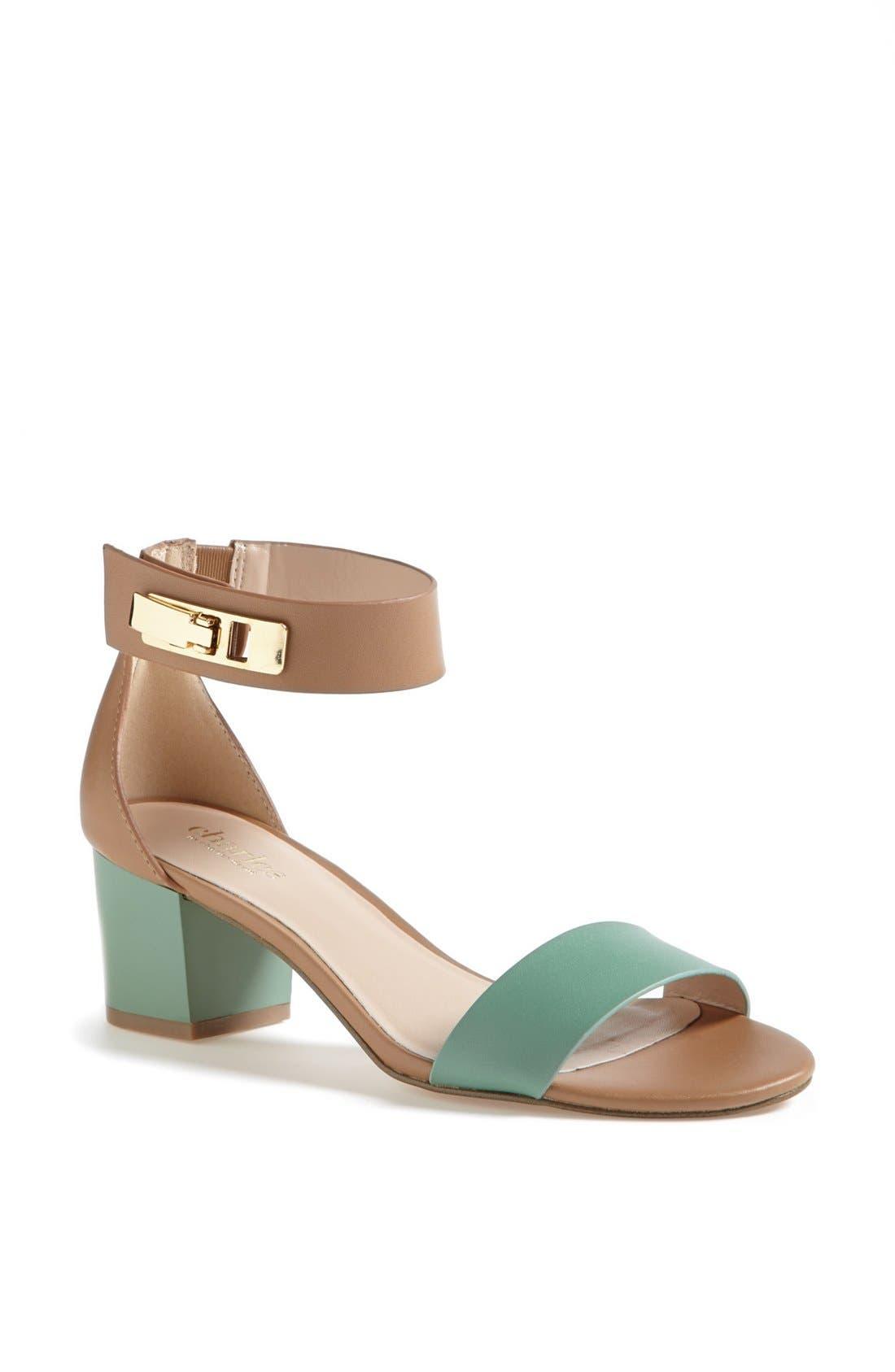'Glory' Sandal,                         Main,                         color, Mint/ Nude