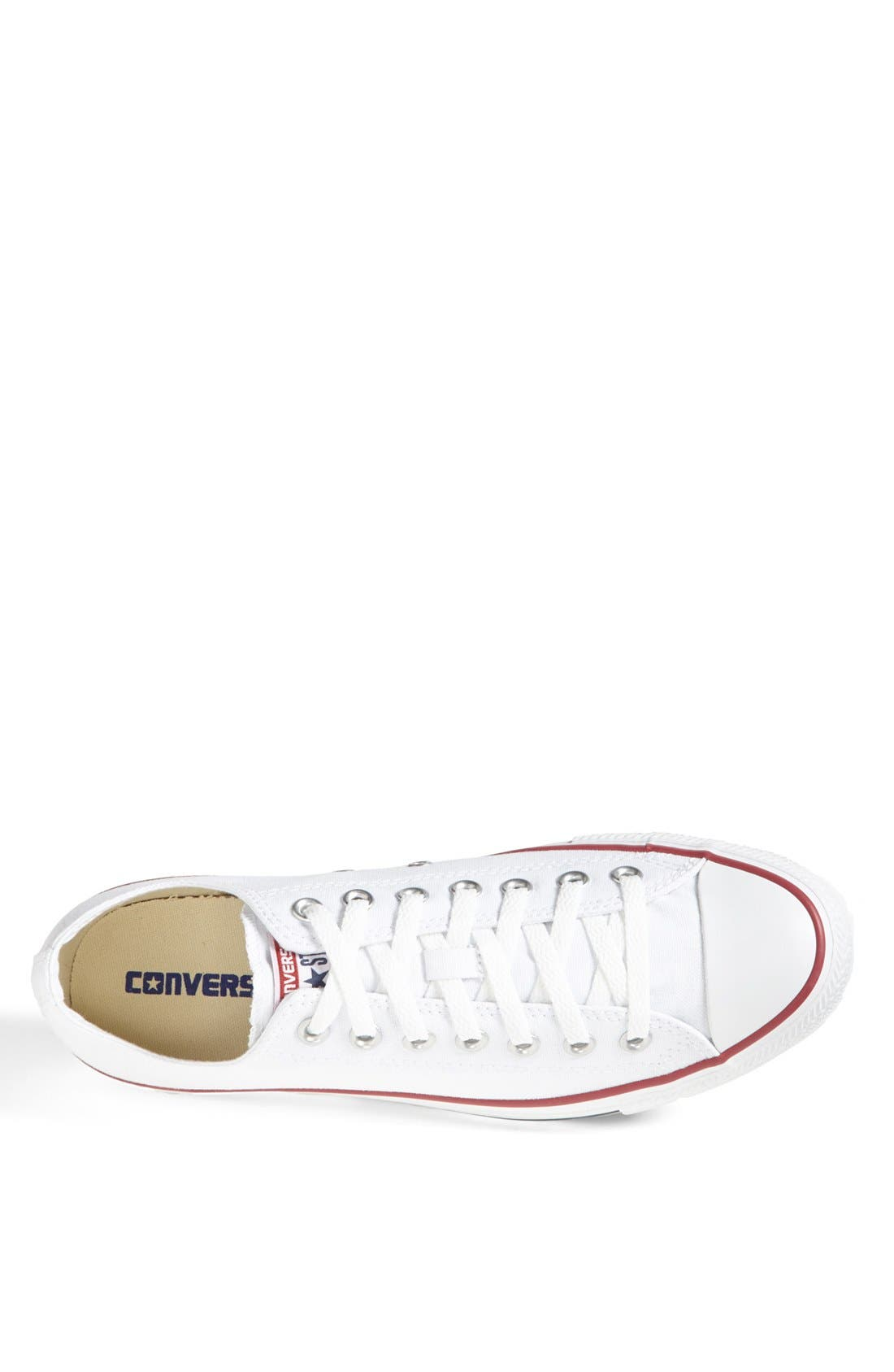 Chuck Taylor<sup>®</sup> Low Sneaker,                             Alternate thumbnail 3, color,                             White