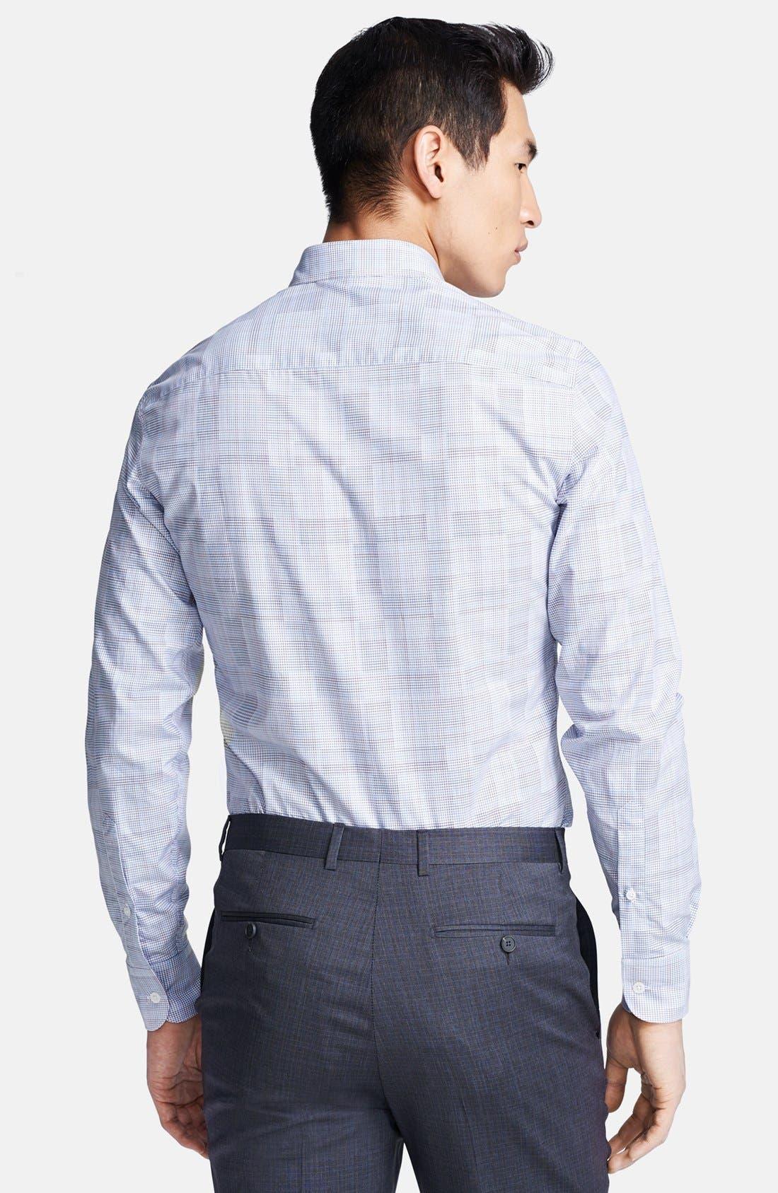 Alternate Image 2  - Z Zegna Tonal Check Sport Shirt