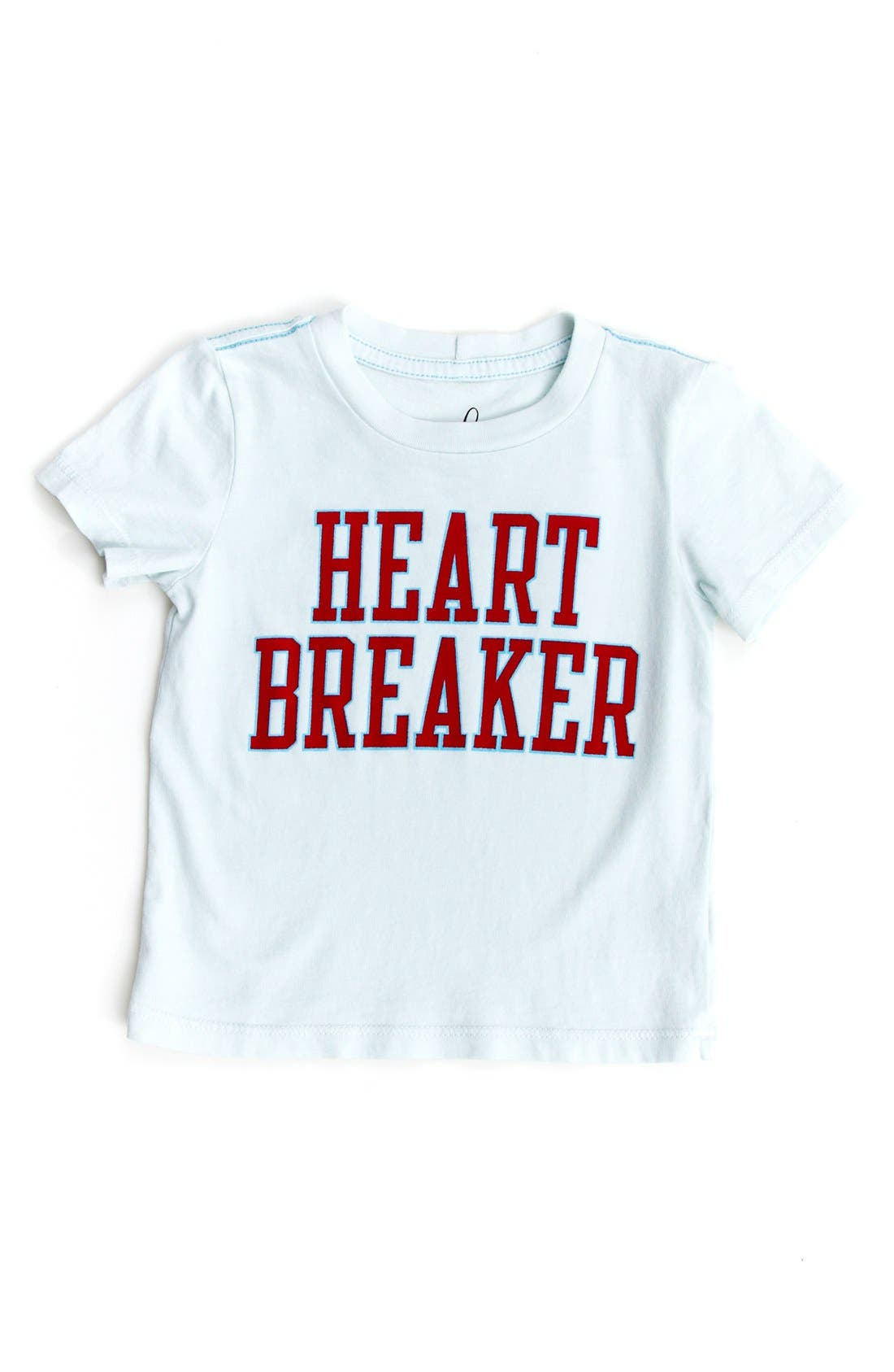 'Heart Breaker' T-Shirt,                         Main,                         color, Light Blue