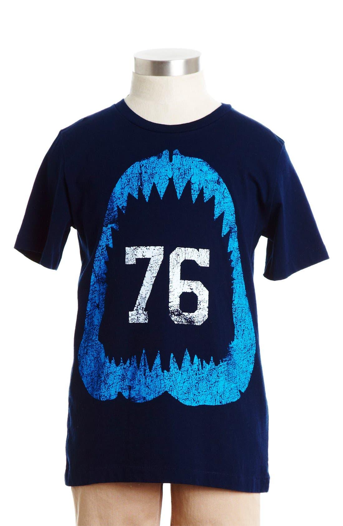 Alternate Image 1 Selected - Peek 'Chomp Shark' Cotton T-Shirt (Toddler Boys, Little Boys & Big Boys)