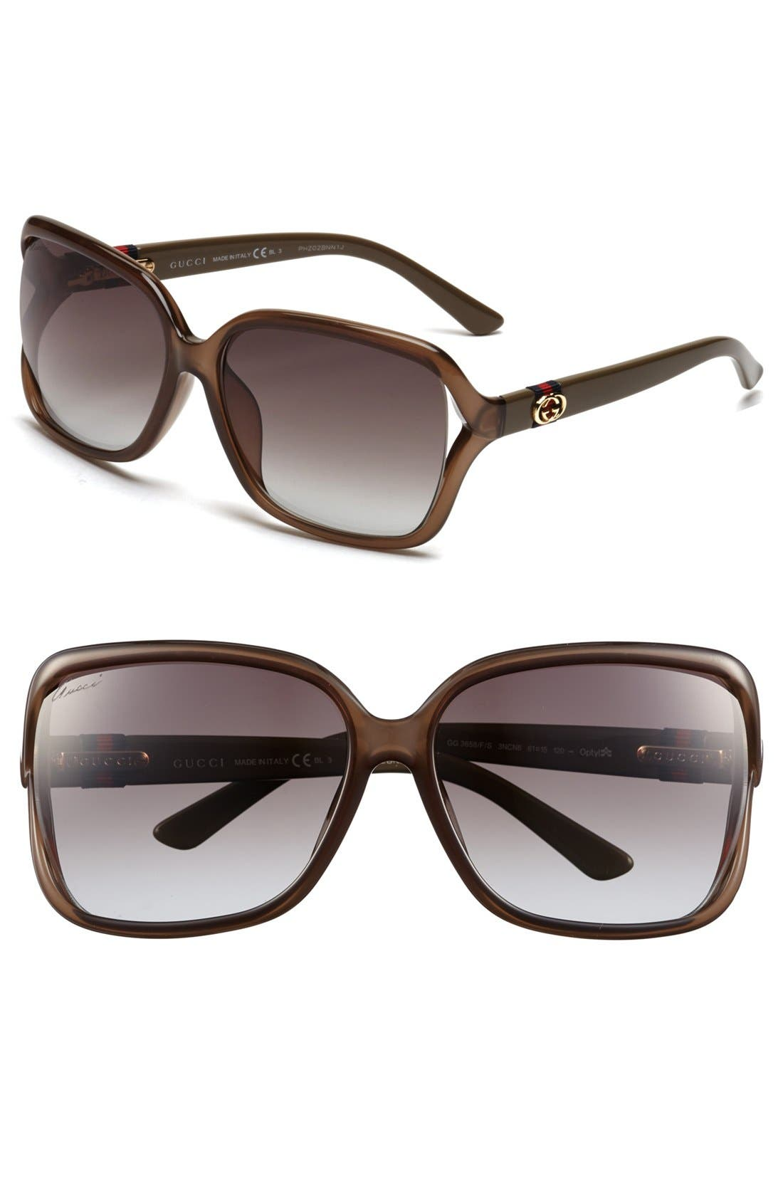 Alternate Image 1 Selected - Gucci 61mm Special Fit Sunglasses