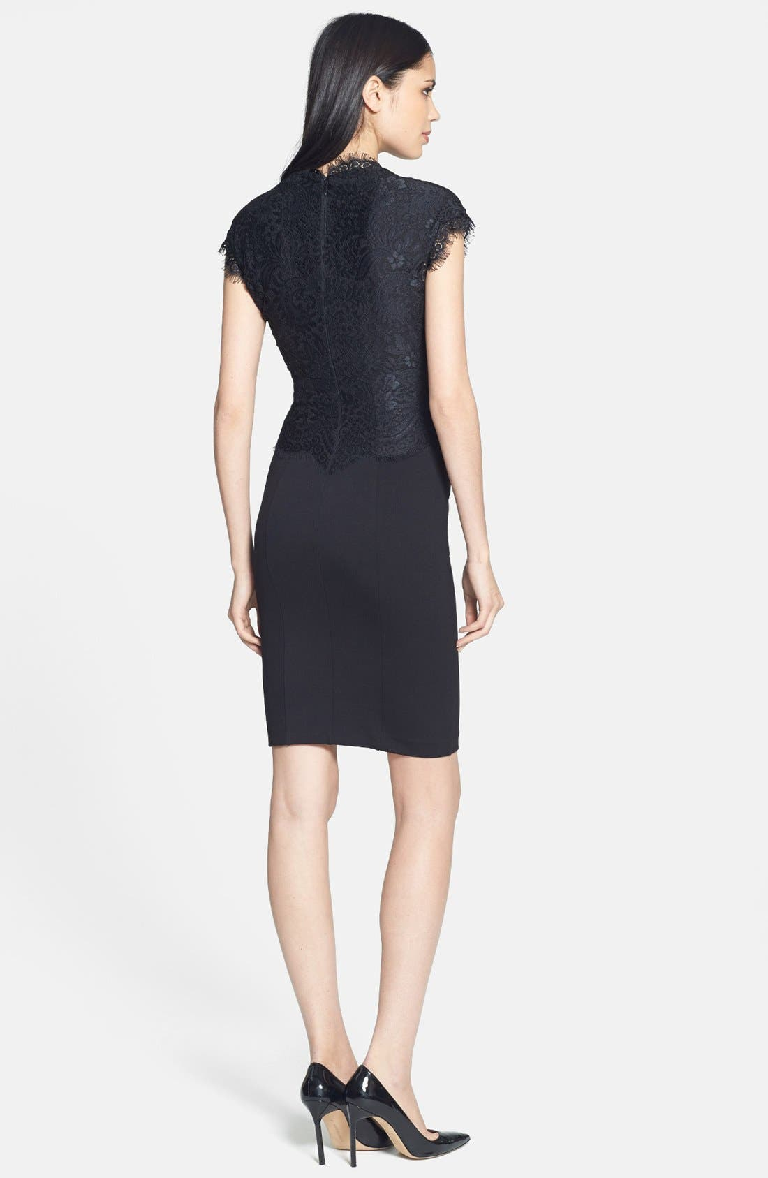 Alternate Image 2  - Ted Baker London 'Sarvani' Lace & Ponte Body-Con Dress