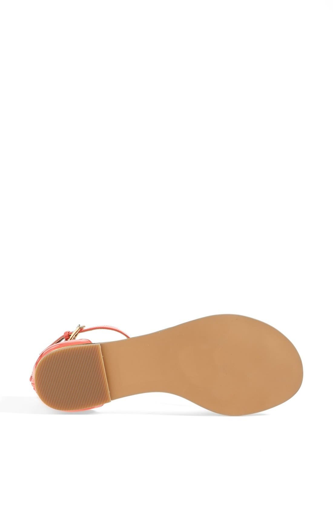 'Bonsai' Sandal,                             Alternate thumbnail 4, color,                             Coral Patent