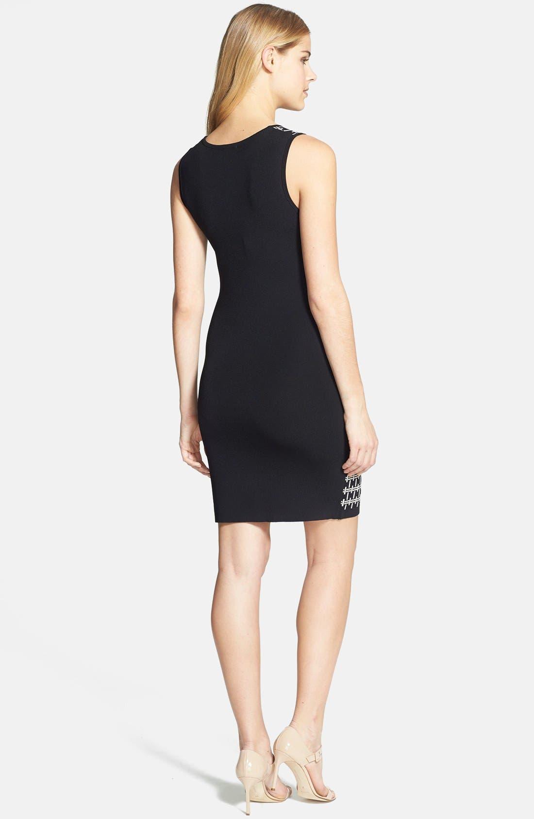 Alternate Image 2  - Vince Camuto Colorblock Jacquard Dress