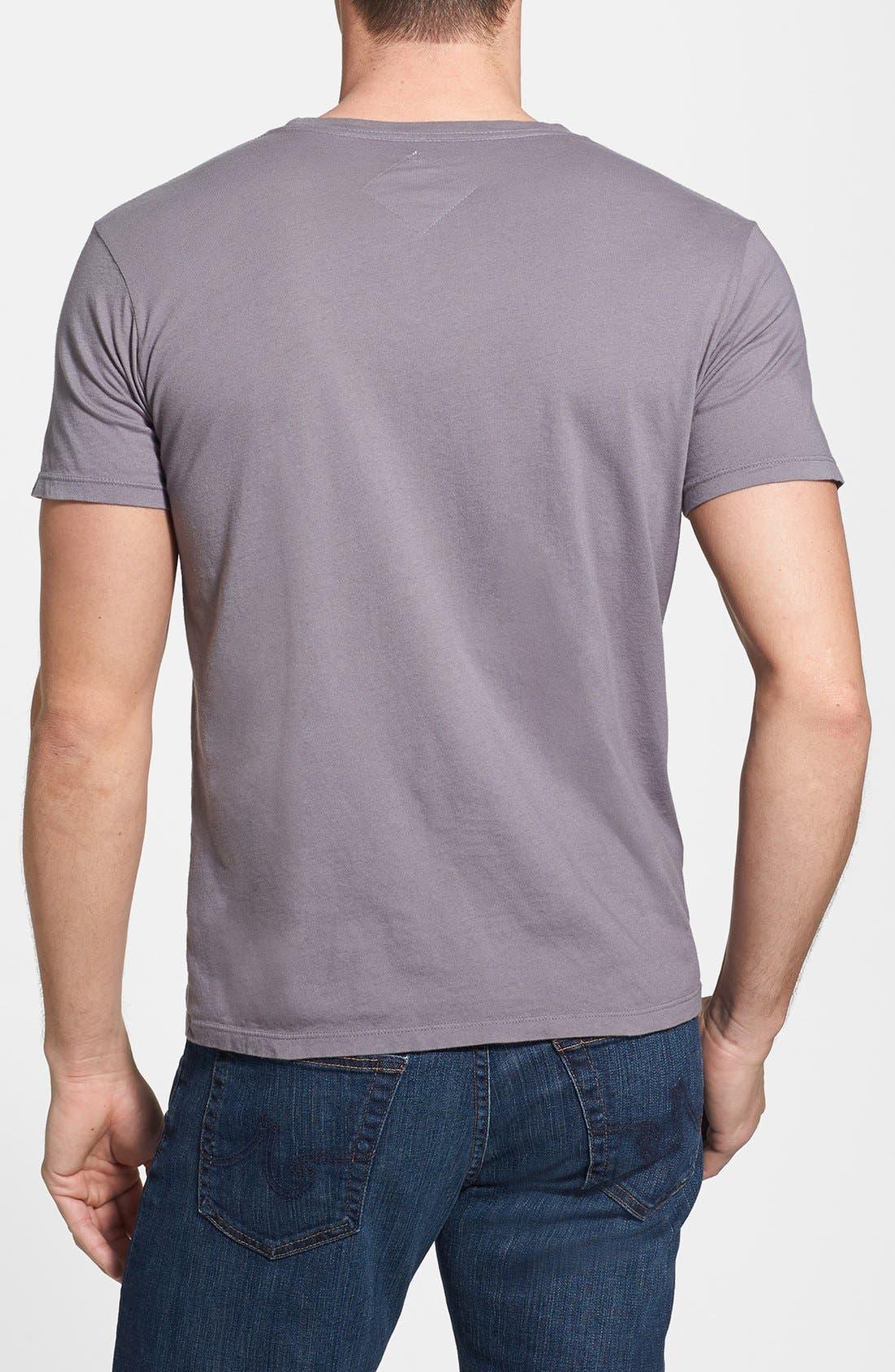 'Ace' Slim Fit T-Shirt,                             Alternate thumbnail 2, color,                             Grey
