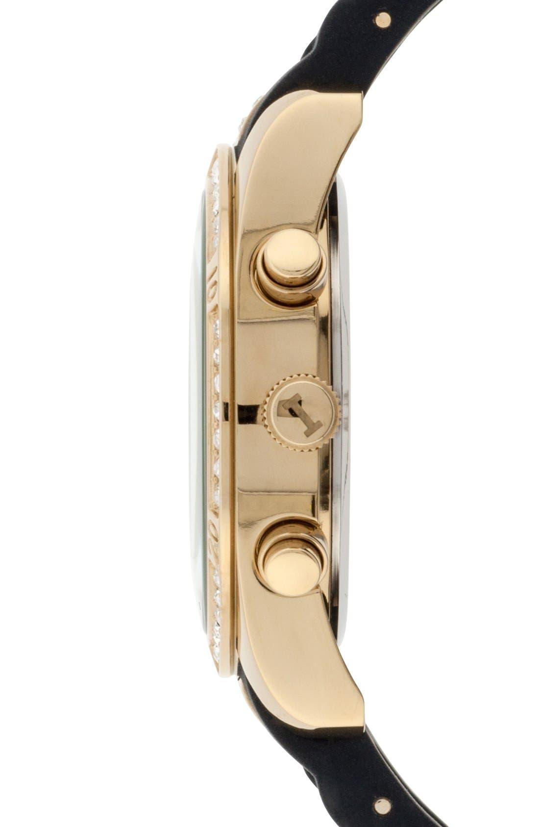 Alternate Image 3  - Isaac Mizrahi New York Crystal Accent Chronograph Watch, 38mm