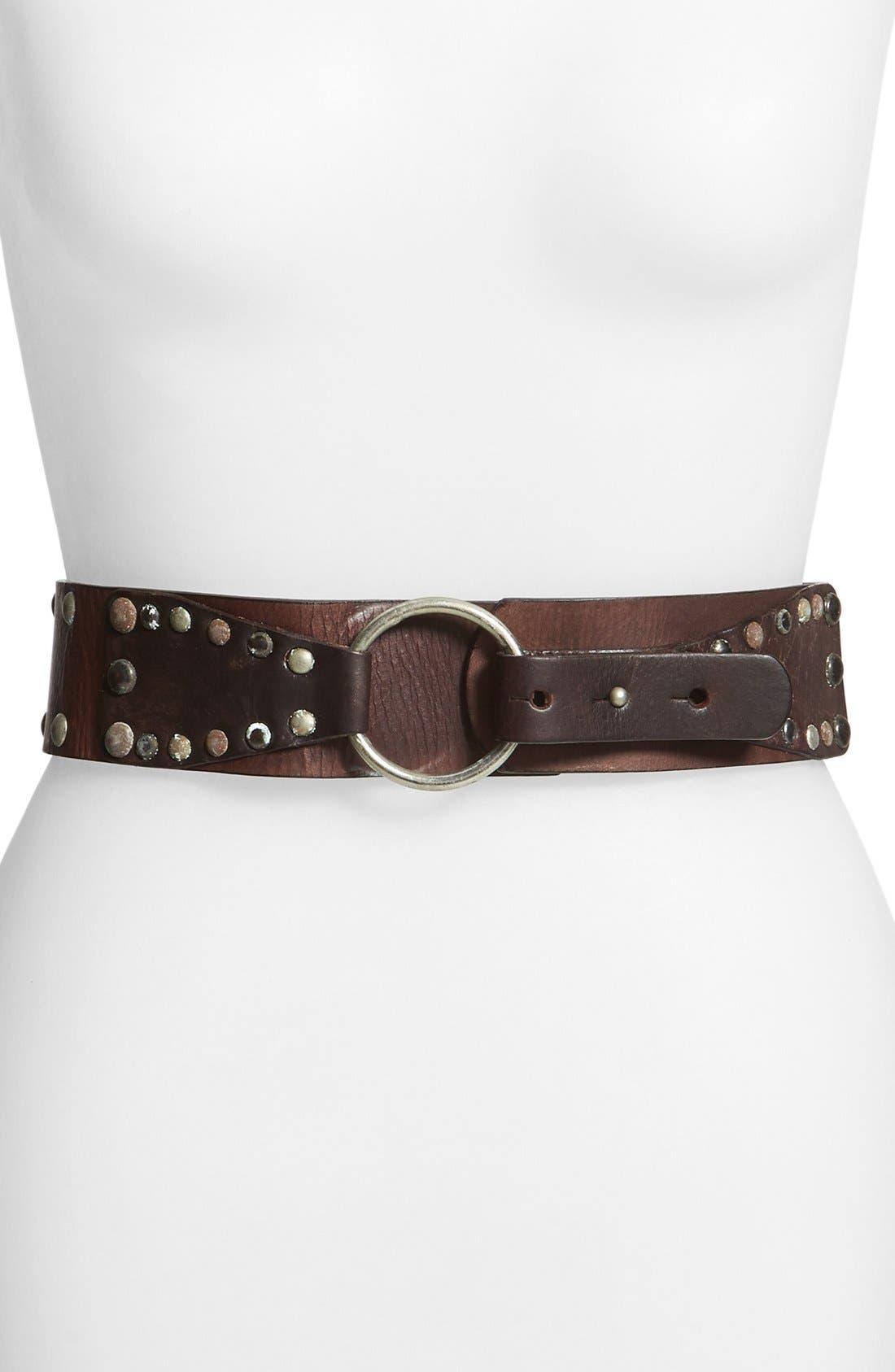 Main Image - CK Calvin Klein Jeans Studded Leather Belt