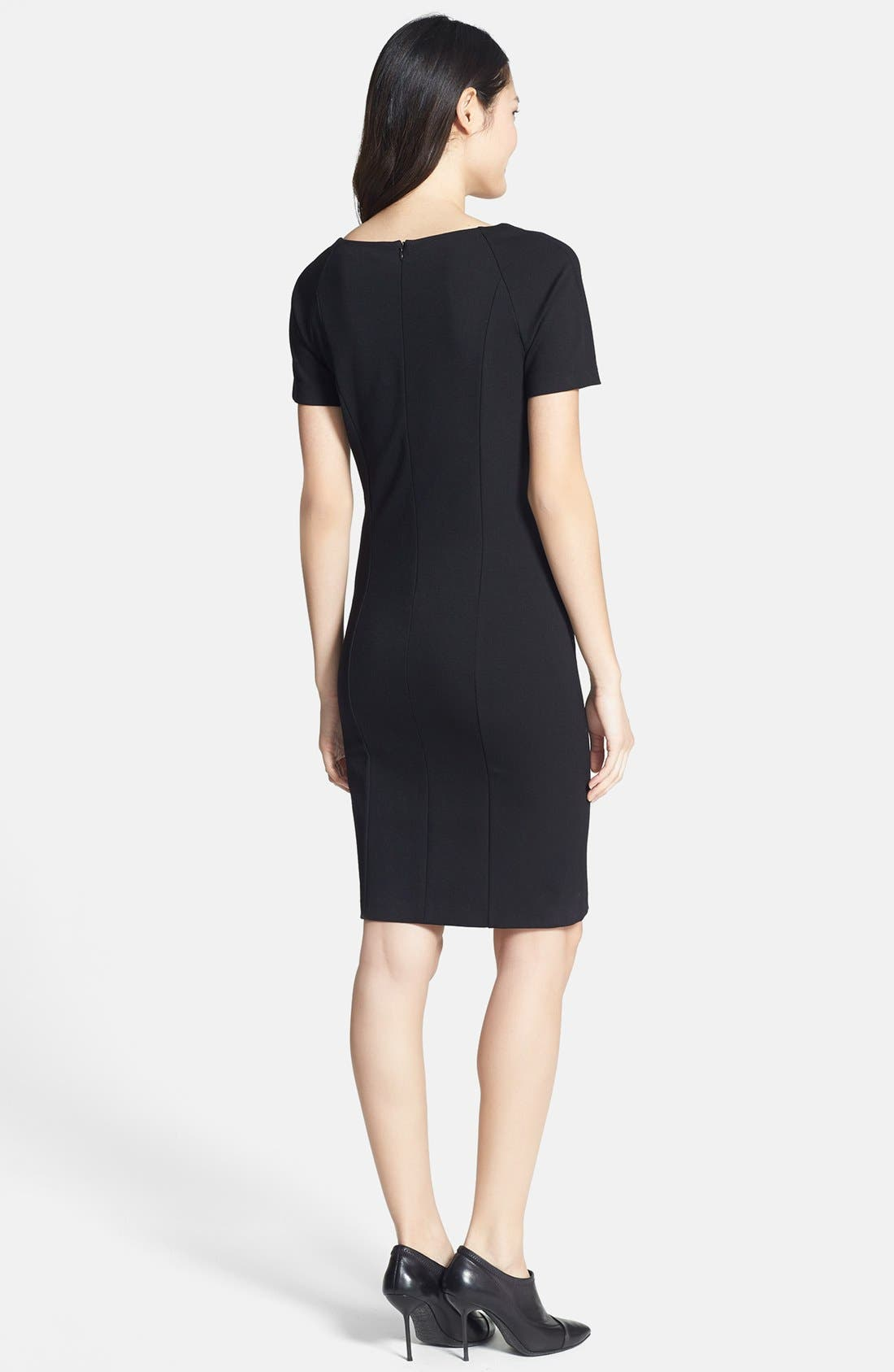 Alternate Image 2  - DKNYC Colorblock Ponte Sheath Dress