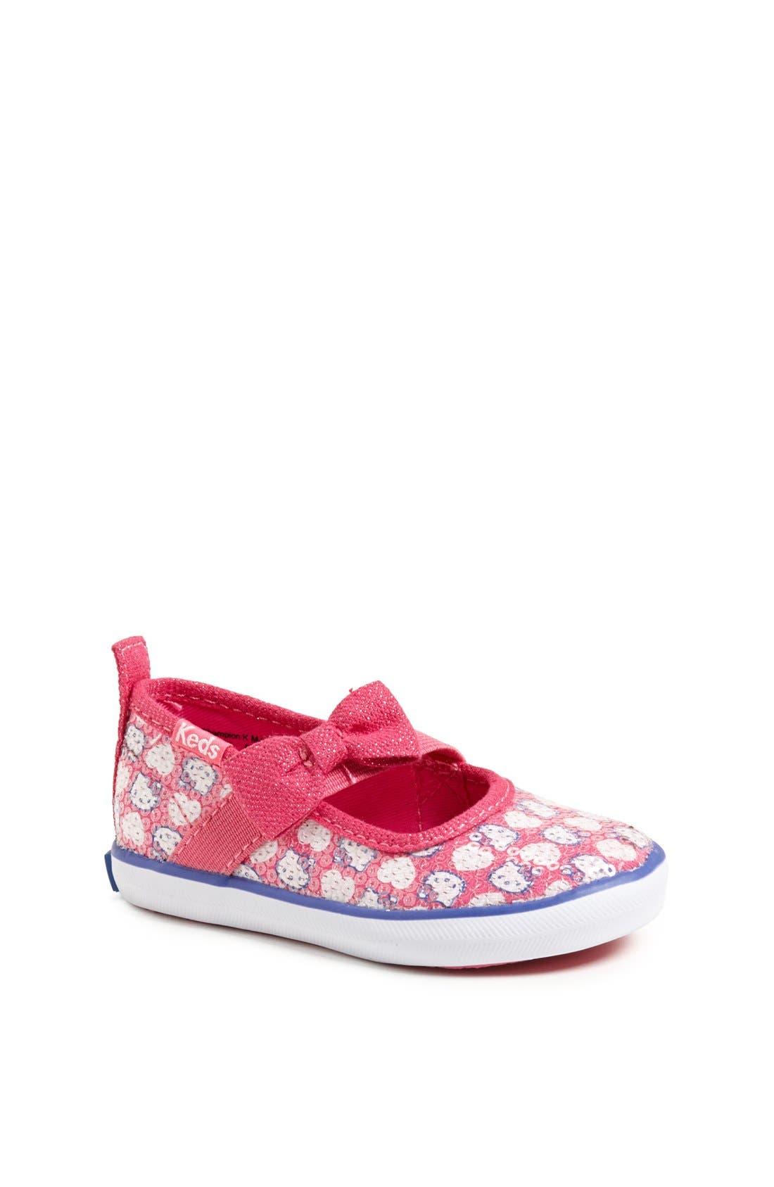 Alternate Image 1 Selected - Keds® 'Champion - Hello Kitty®' Sneaker (Walker & Toddler)