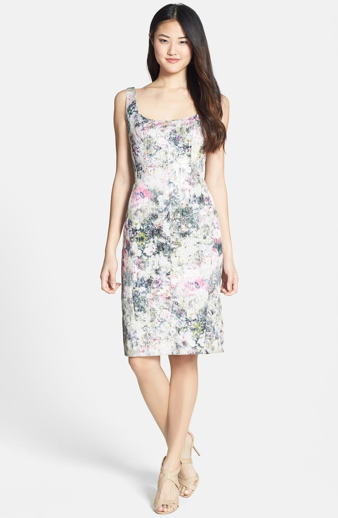 Alternate Image 3  - Maggy London Print Brocade Sheath Dress