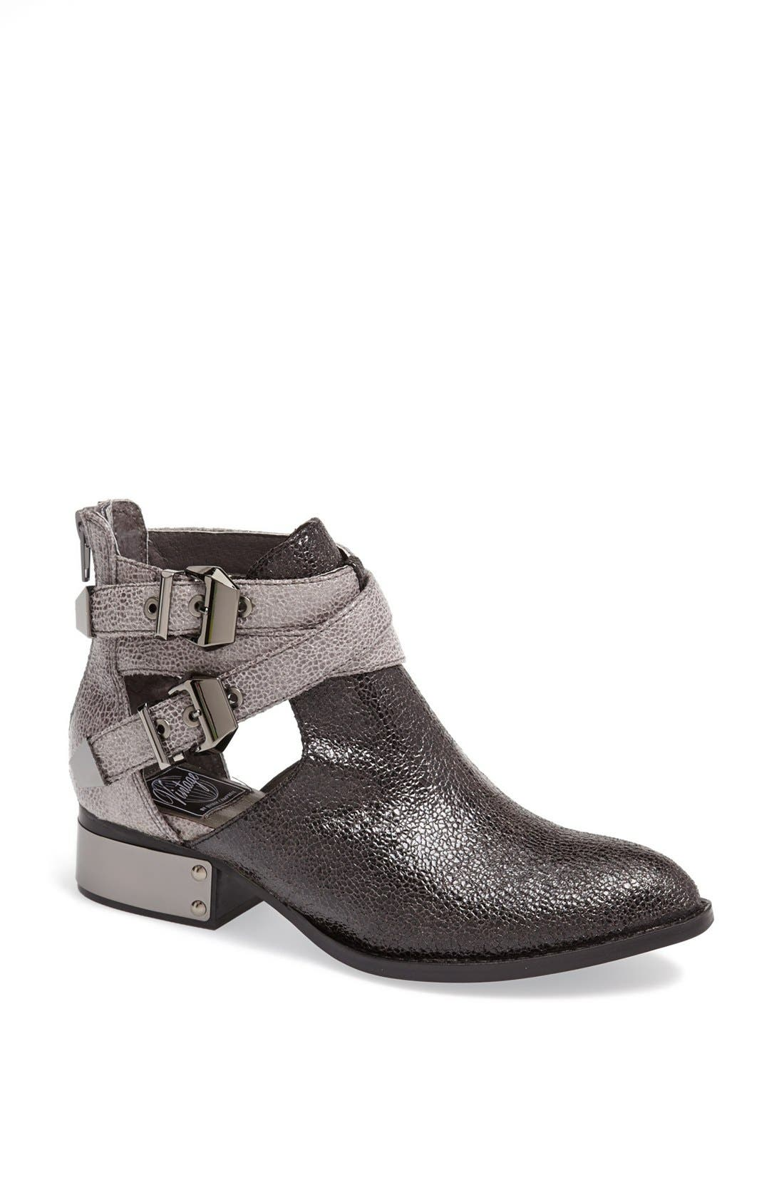 'Everly' Bootie,                             Main thumbnail 1, color,                             Grey Cracked Combo