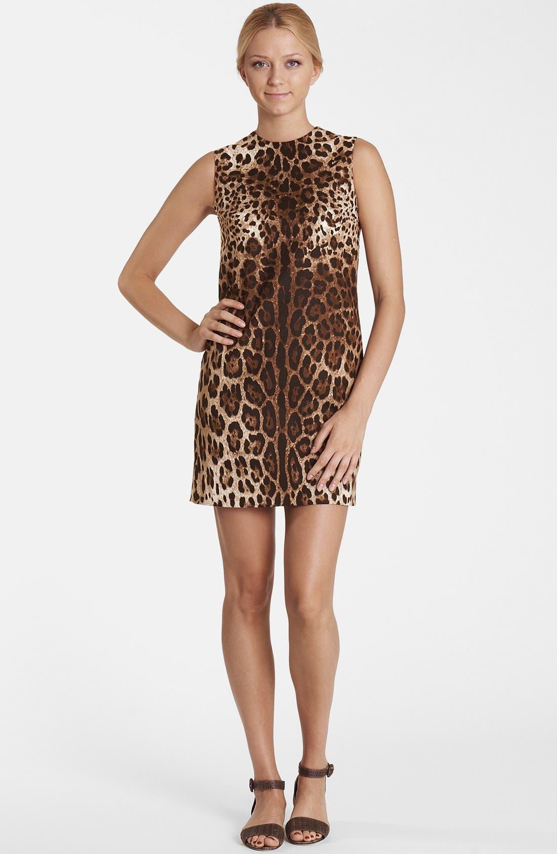 Alternate Image 1 Selected - Dolce&Gabbana Leopard Print Shift Dress