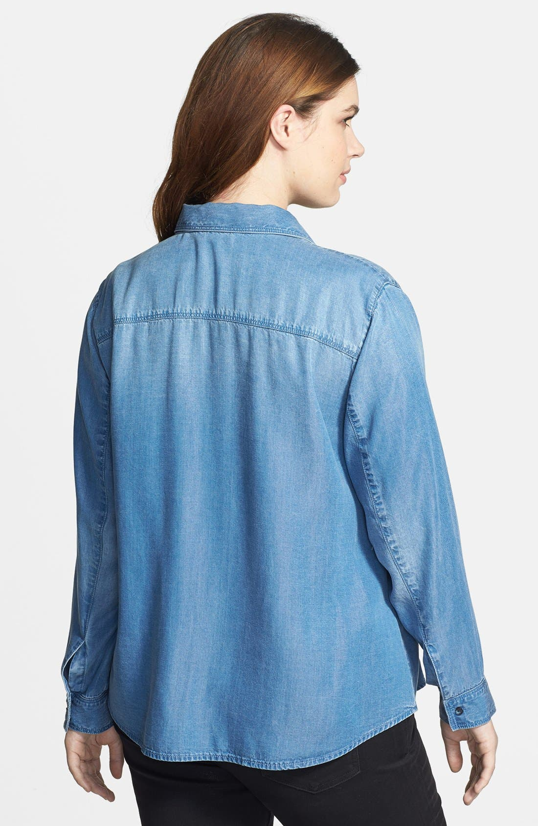 Alternate Image 2  - Sejour Chambray Shirt (Plus Size)