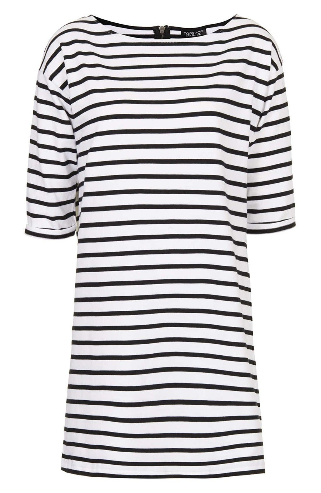 Alternate Image 3  - Topshop Stripe Cotton Tunic Dress