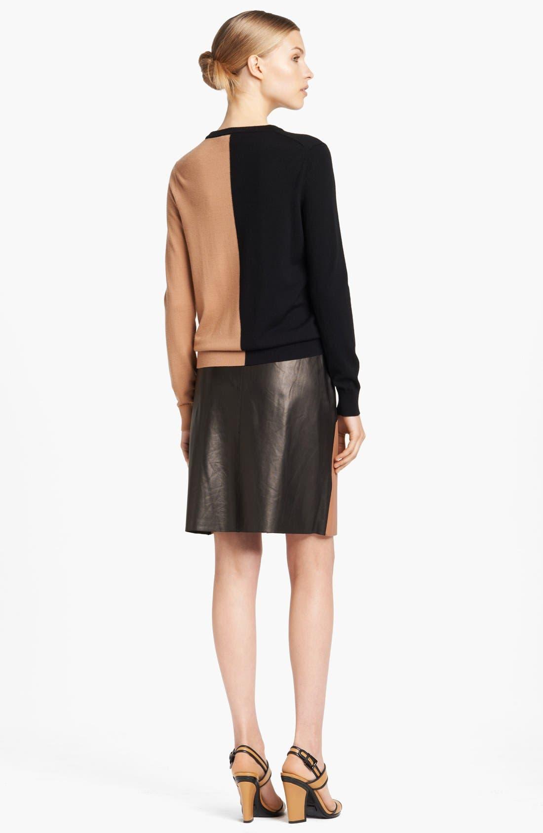 Alternate Image 5  - Michael Kors Colorblock Leather Wrap Skirt