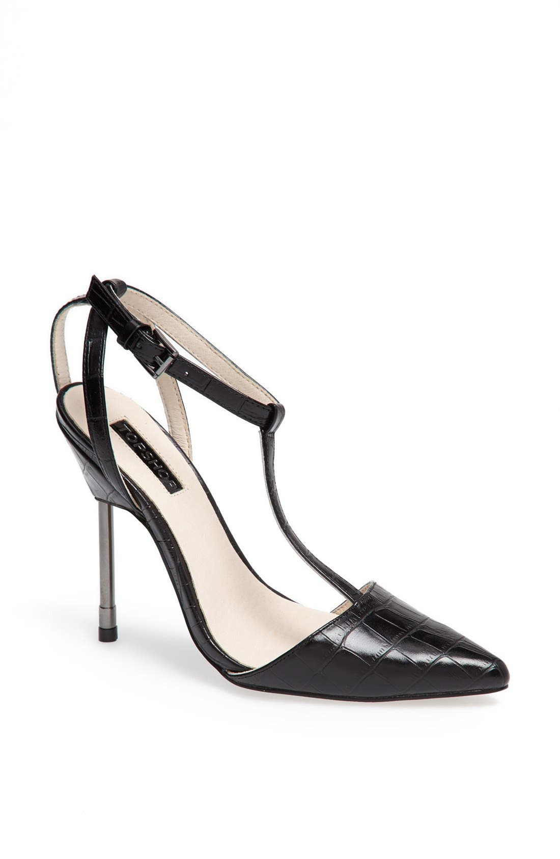Alternate Image 1 Selected - Topshop 'Ghost' T-Strap Pump
