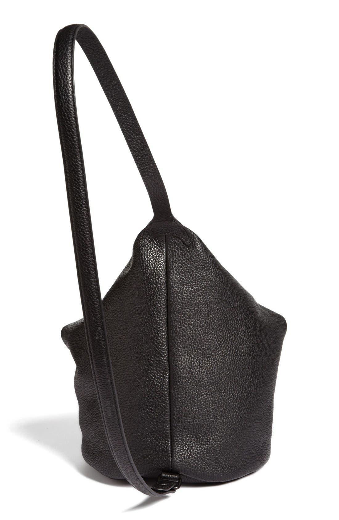Alternate Image 4  - Kara 'Dry - Small' Convertible Pebbled Leather Bucket Bag, Small