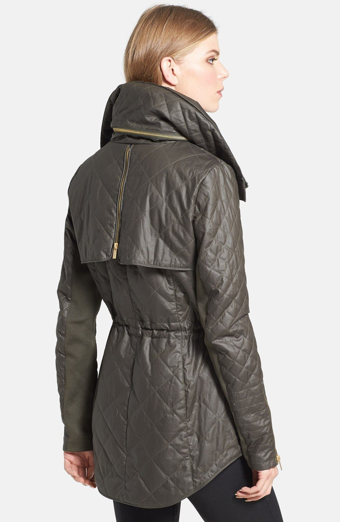 Alternate Image 2  - BCBGMAXAZRIA 'Kelly' Quilted High/Low Anorak with Removable Liner