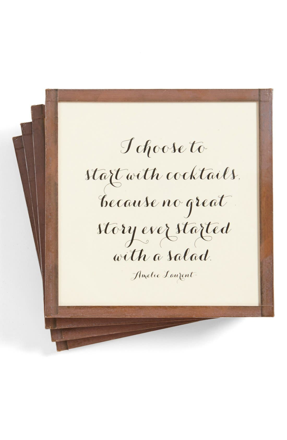 Main Image - Ben's Garden 'Start with Cocktails' Coasters (Set of 4)