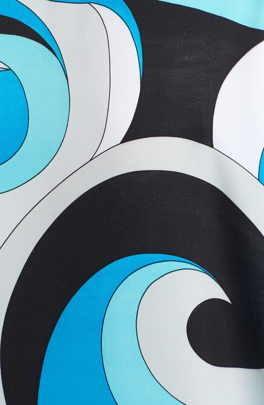 Alternate Image 3  - MICHAEL Michael Kors Print Side Tie Top (Regular & Petite)