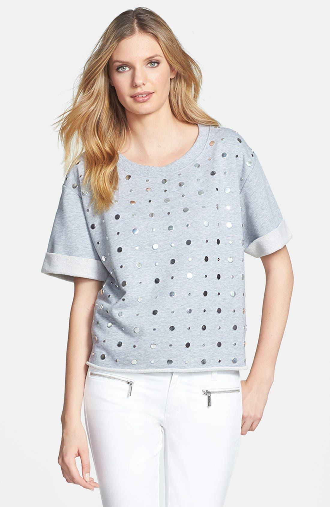 Main Image - MICHAEL Michael Kors Studded Crewneck Sweatshirt