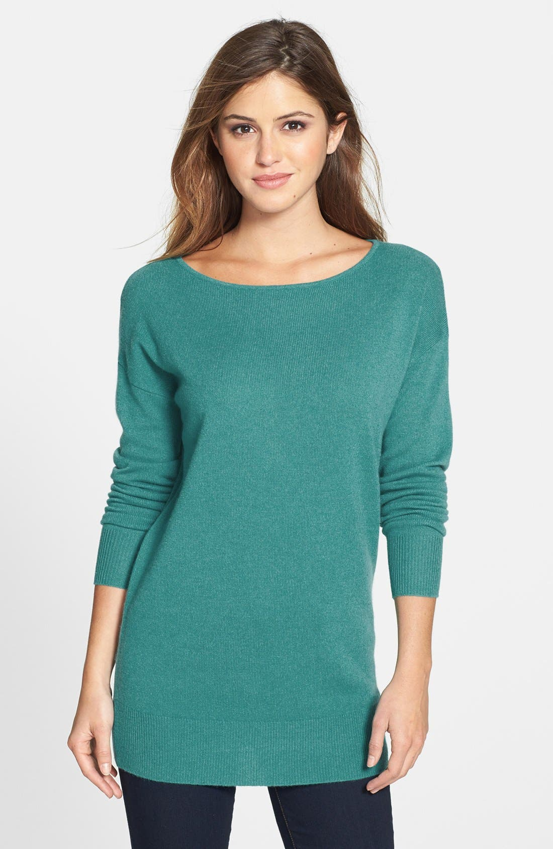 Main Image - Halogen® Cashmere Tunic Sweater