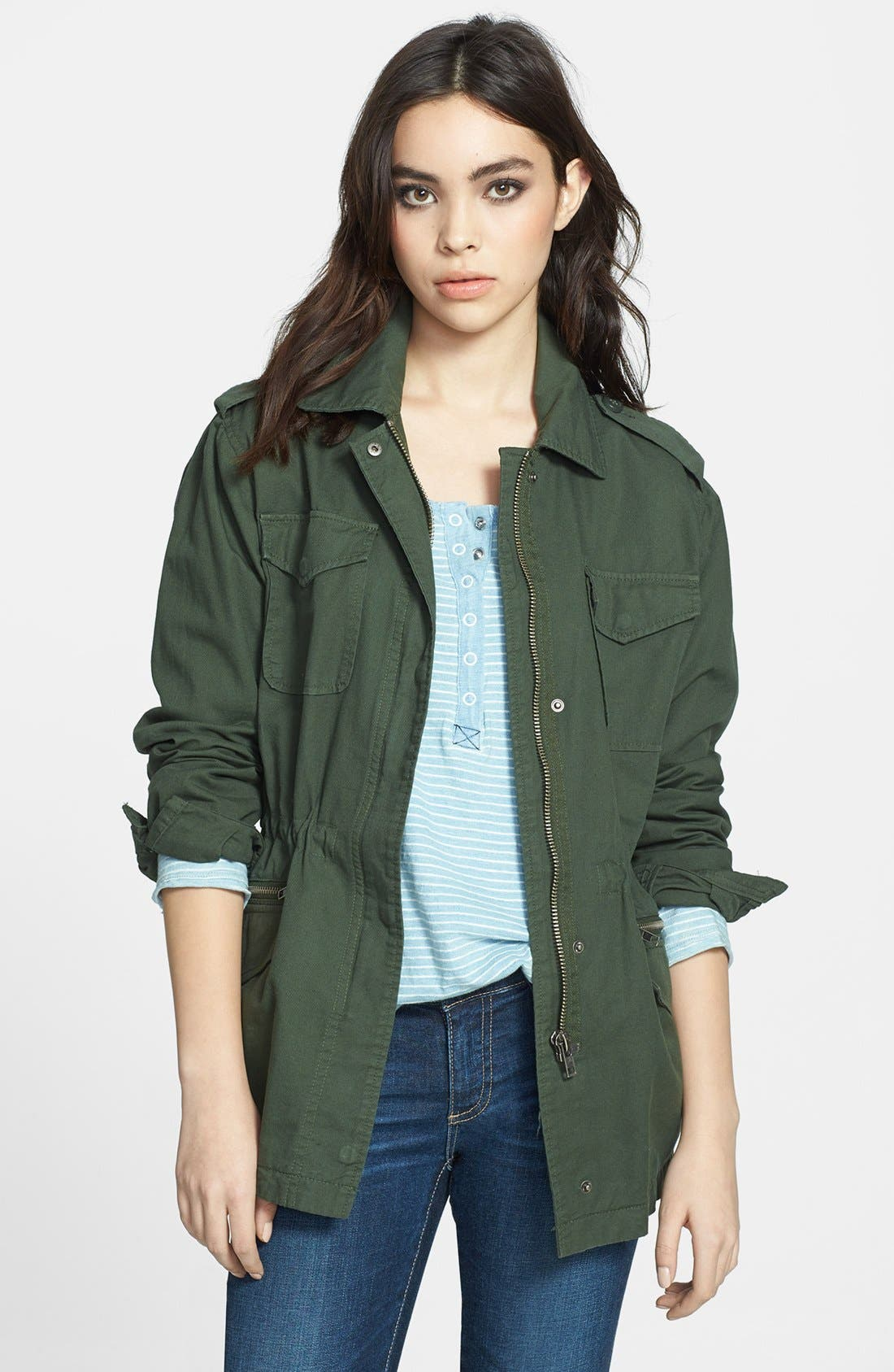 Alternate Image 1 Selected - BB Dakota 'Monrovia' Cotton Twill Army Jacket