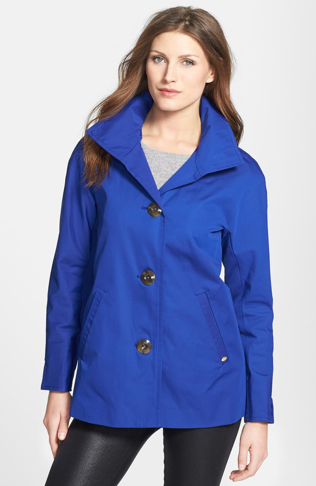 Alternate Image 1 Selected - Ellen Tracy Kimono Raincoat (Regular & Petite)