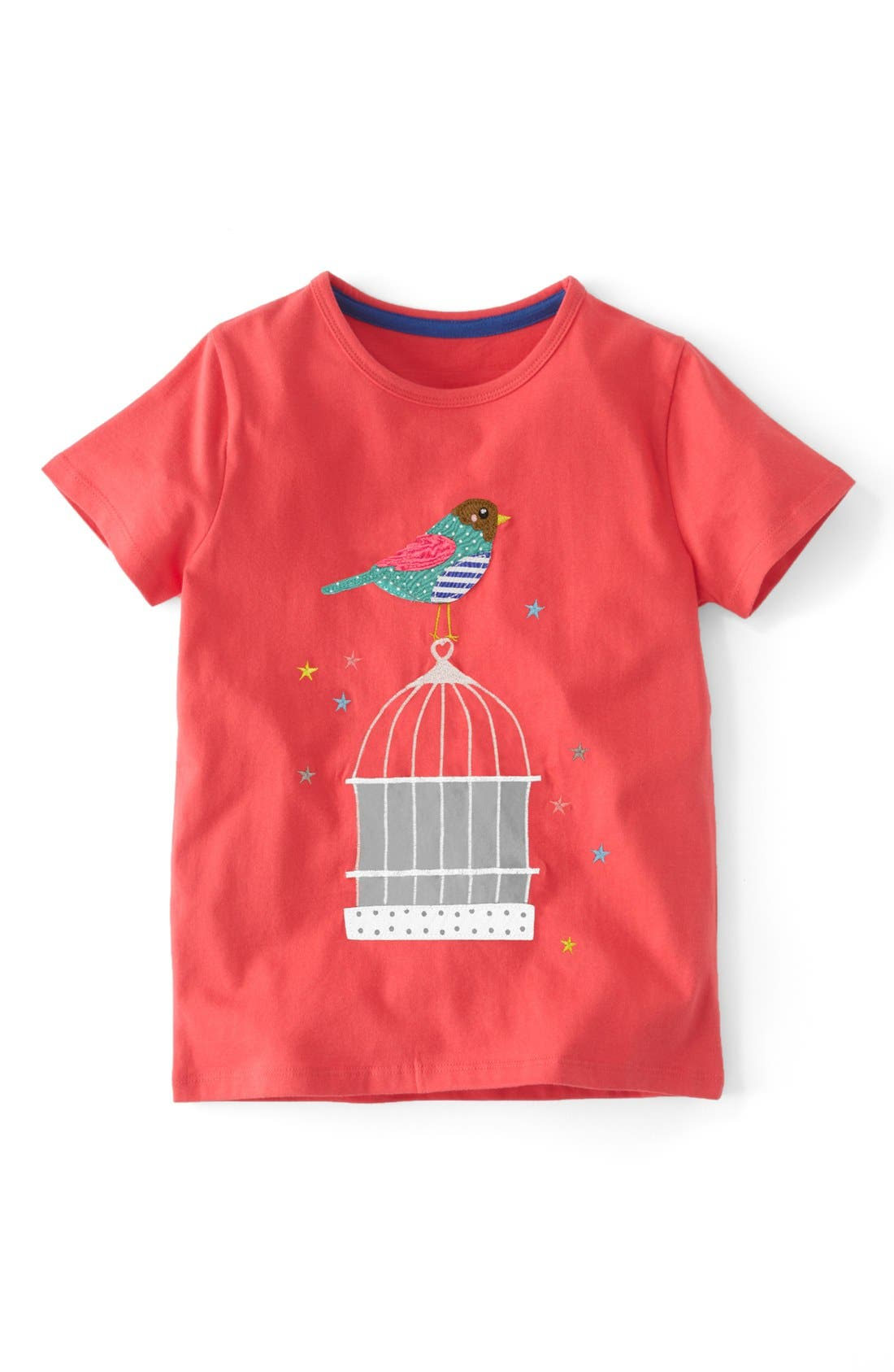 Alternate Image 1 Selected - Mini Boden Patchwork Appliqué Tee (Toddler Girls, Little Girls & Big Girls)(Online Only)
