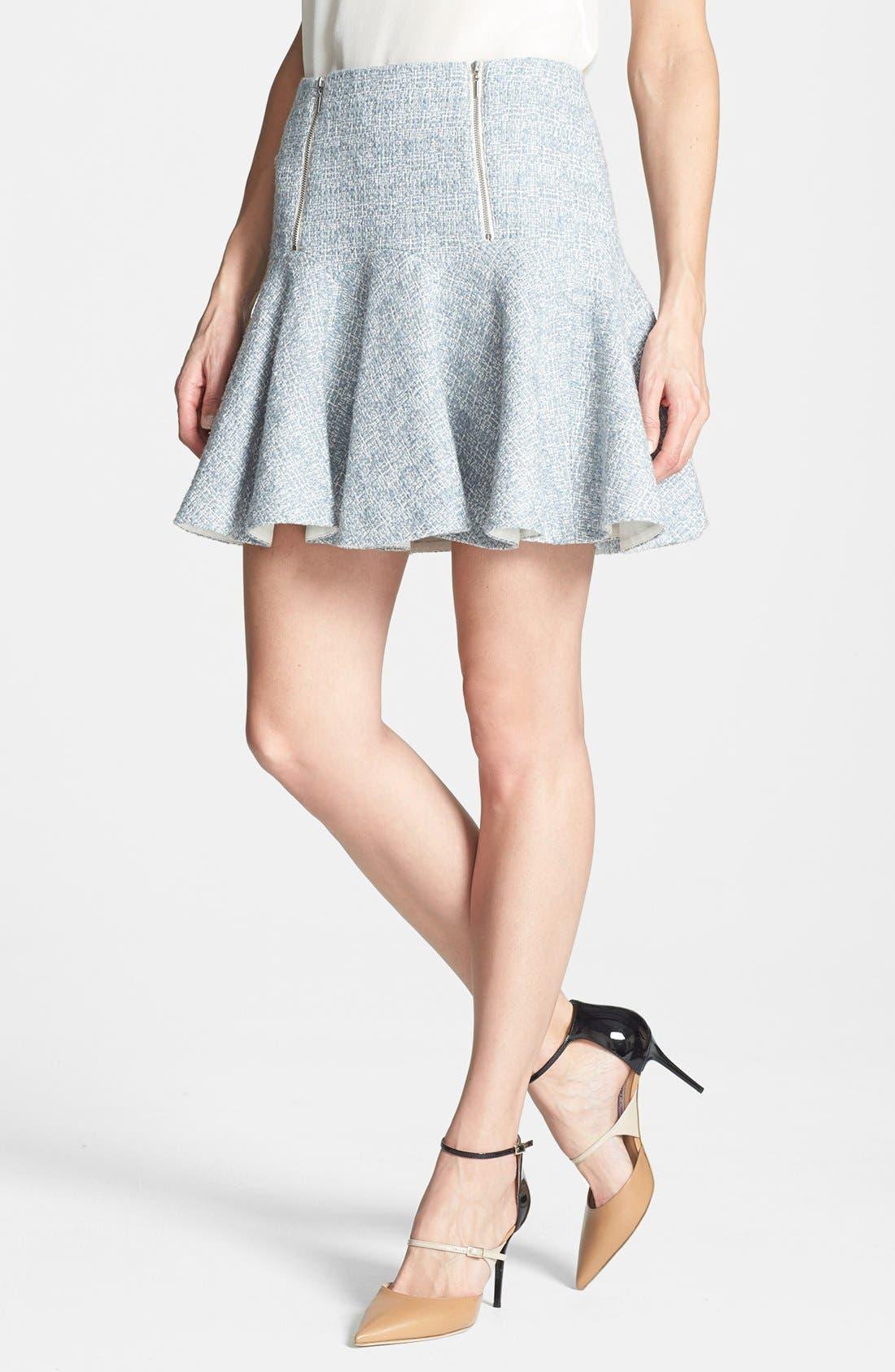 Main Image - Rebecca Taylor Dual Zip Tweed Skirt