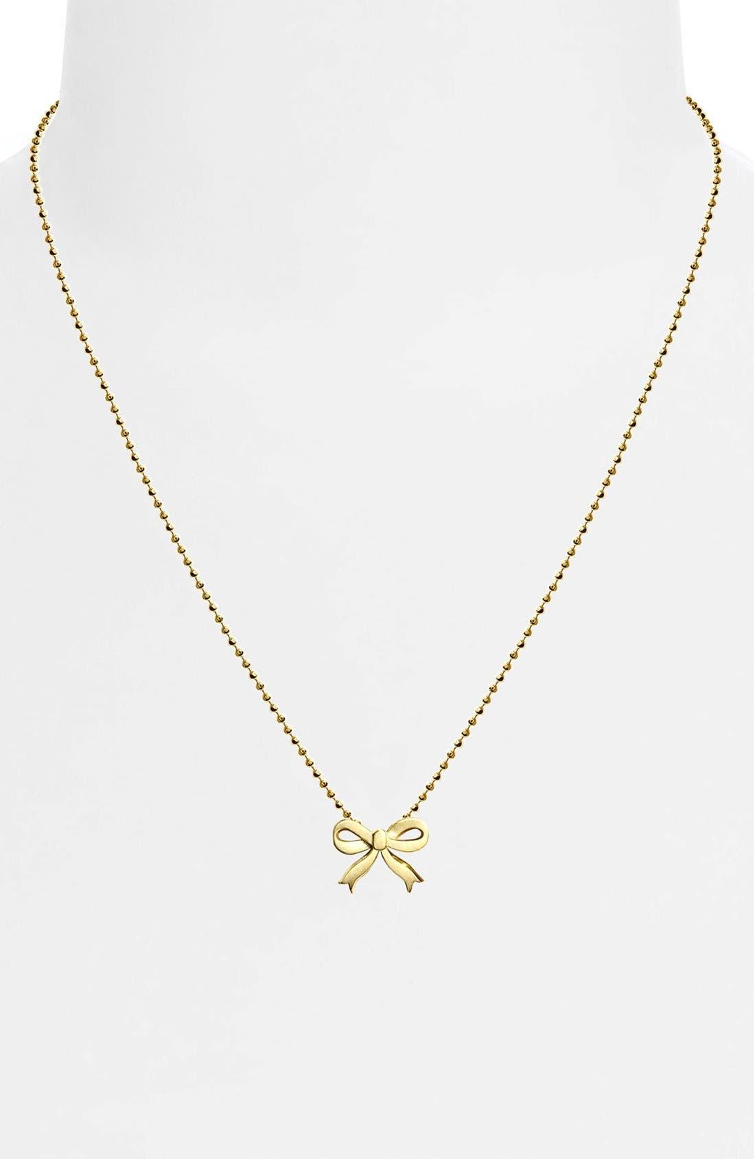 Alternate Image 2  - Alex Woo 'Little Princess' Bow Pendant Necklace