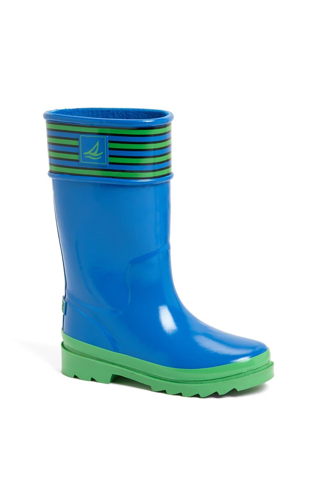 Main Image - Sperry Kids 'Pelican' Rain Boot (Walker, Toddler, Little Kid & Big Kid)