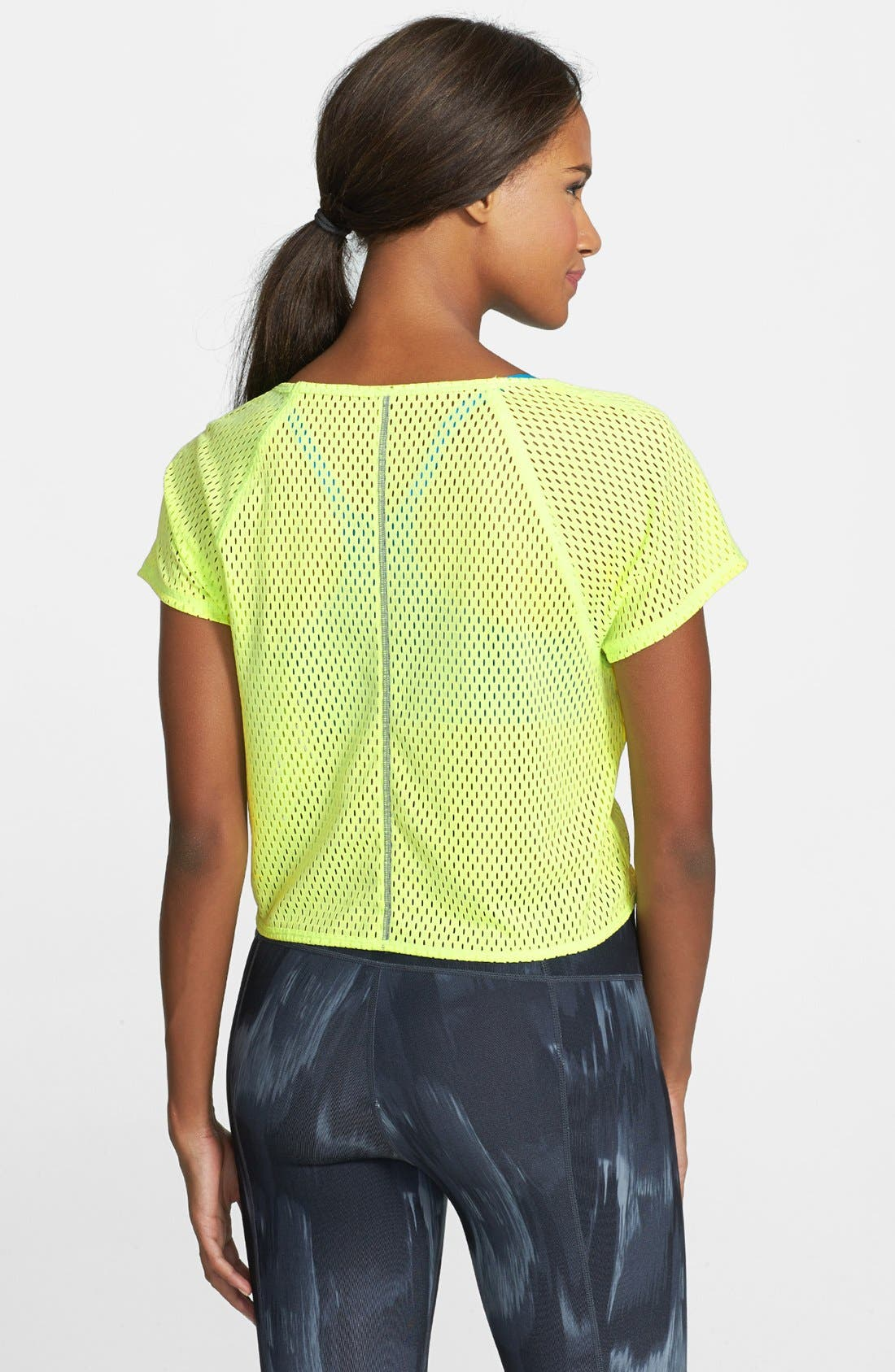 Alternate Image 2  - Under Armour 'Bolo' Mesh Crop Tee