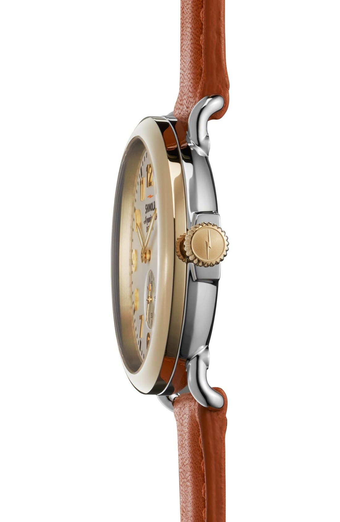 Alternate Image 3  - Shinola 'The Runwell' Leather Strap Watch, 41mm